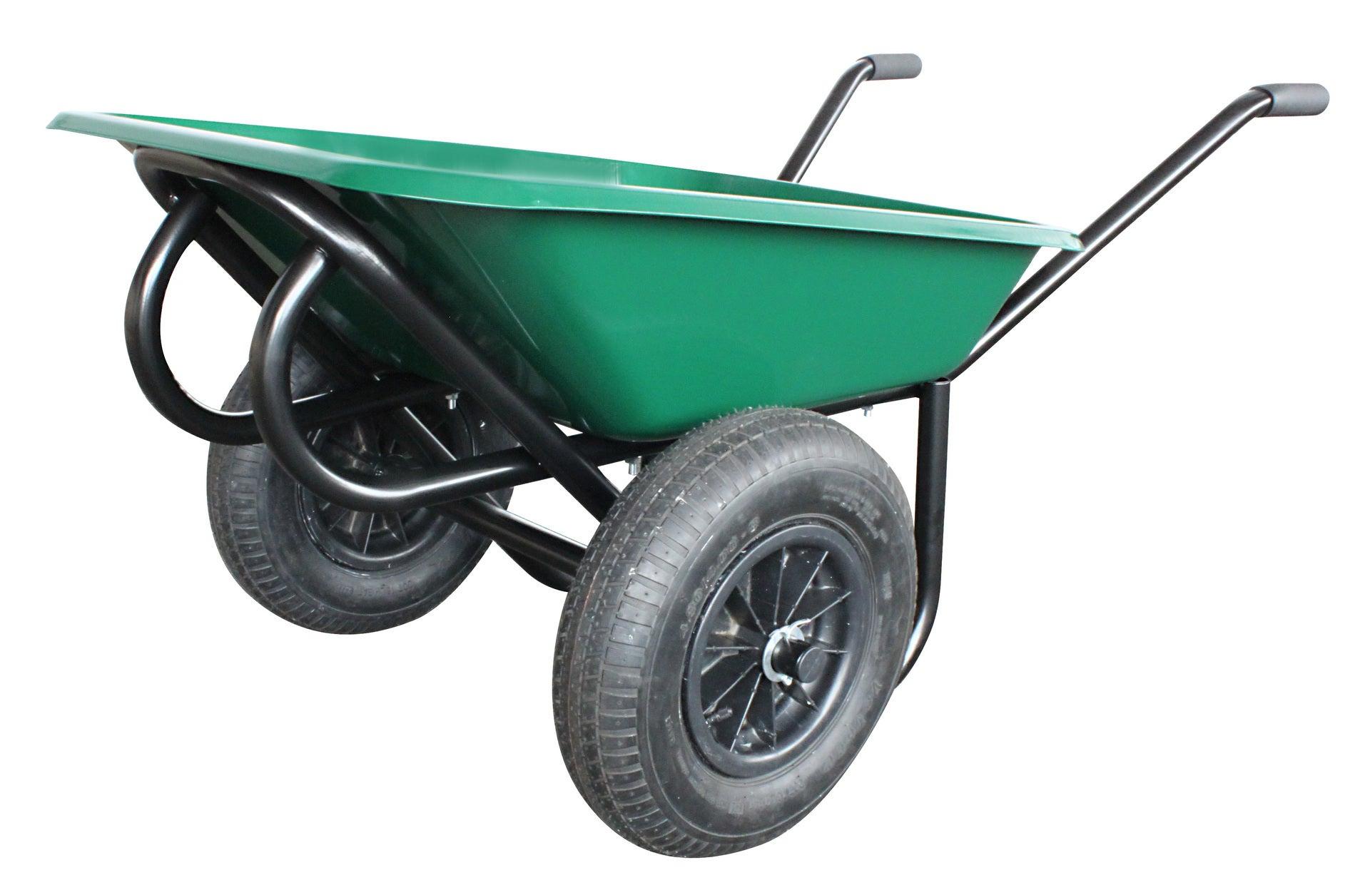 Brouette 2 Roues En Acier Peint Altrad, 100 L, 250 Kg pour Chariot De Jardin Leroy Merlin