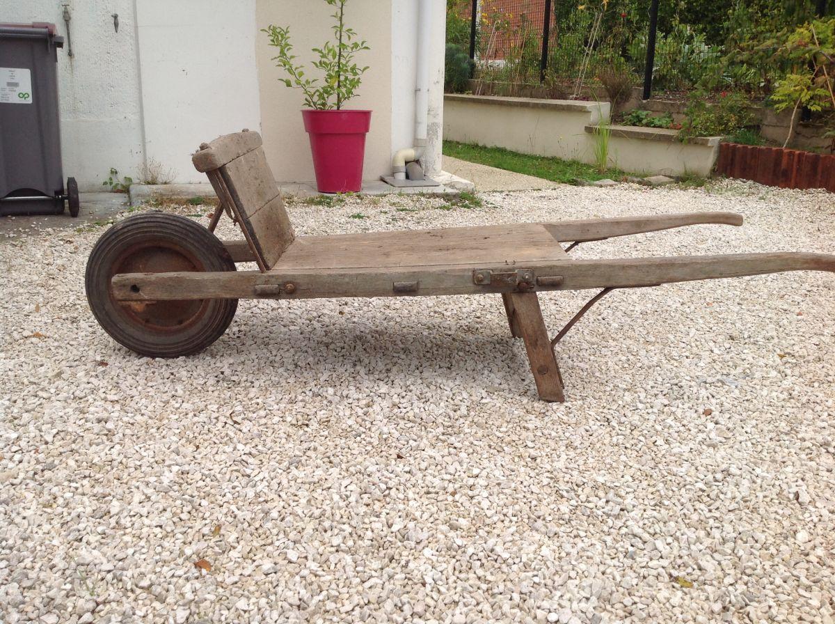 Brouette Bois Ancienne pour Brouette Deco Jardin