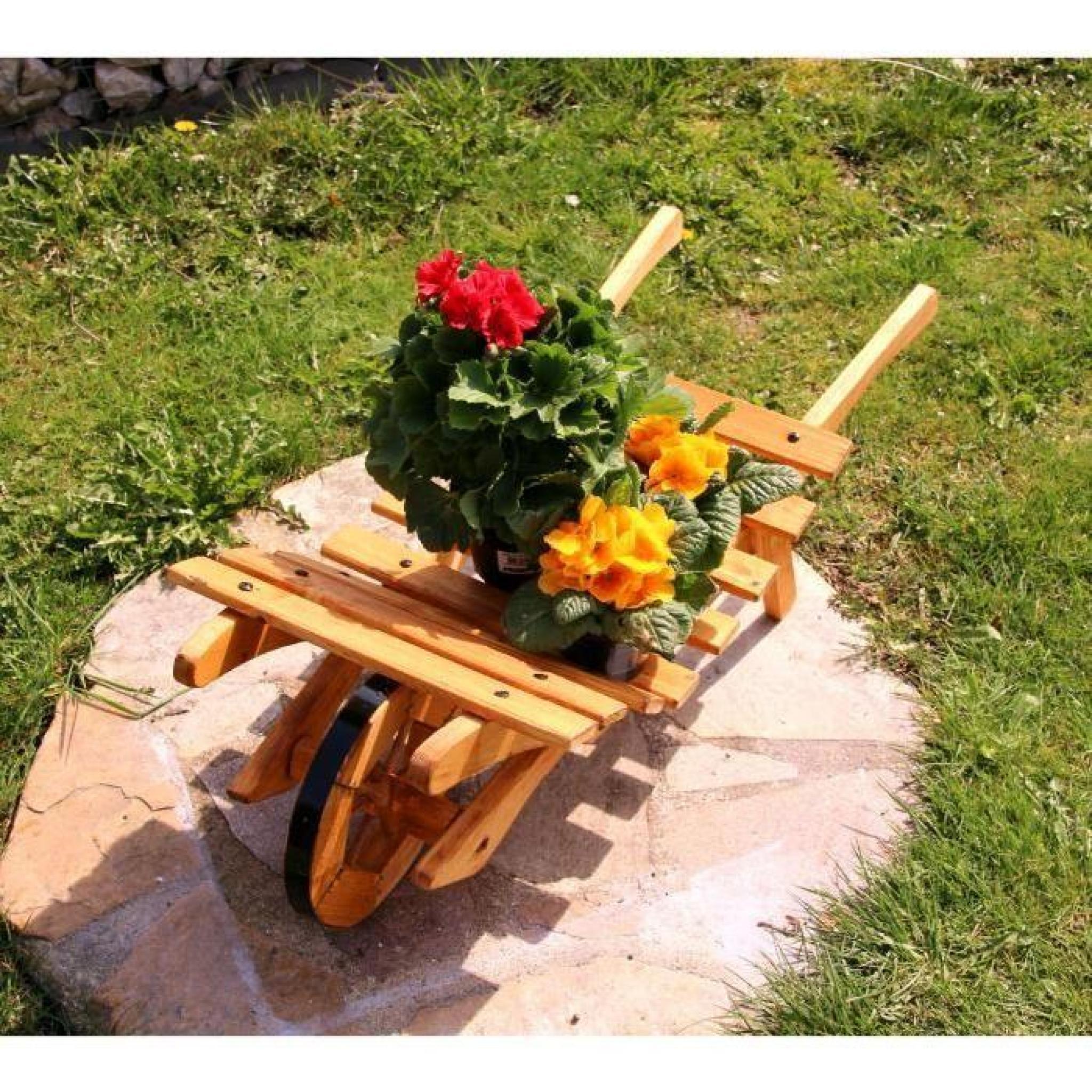 Brouette Fleurs Diable Brouette En Bois Typ 3 Petit concernant Brouette Deco Jardin