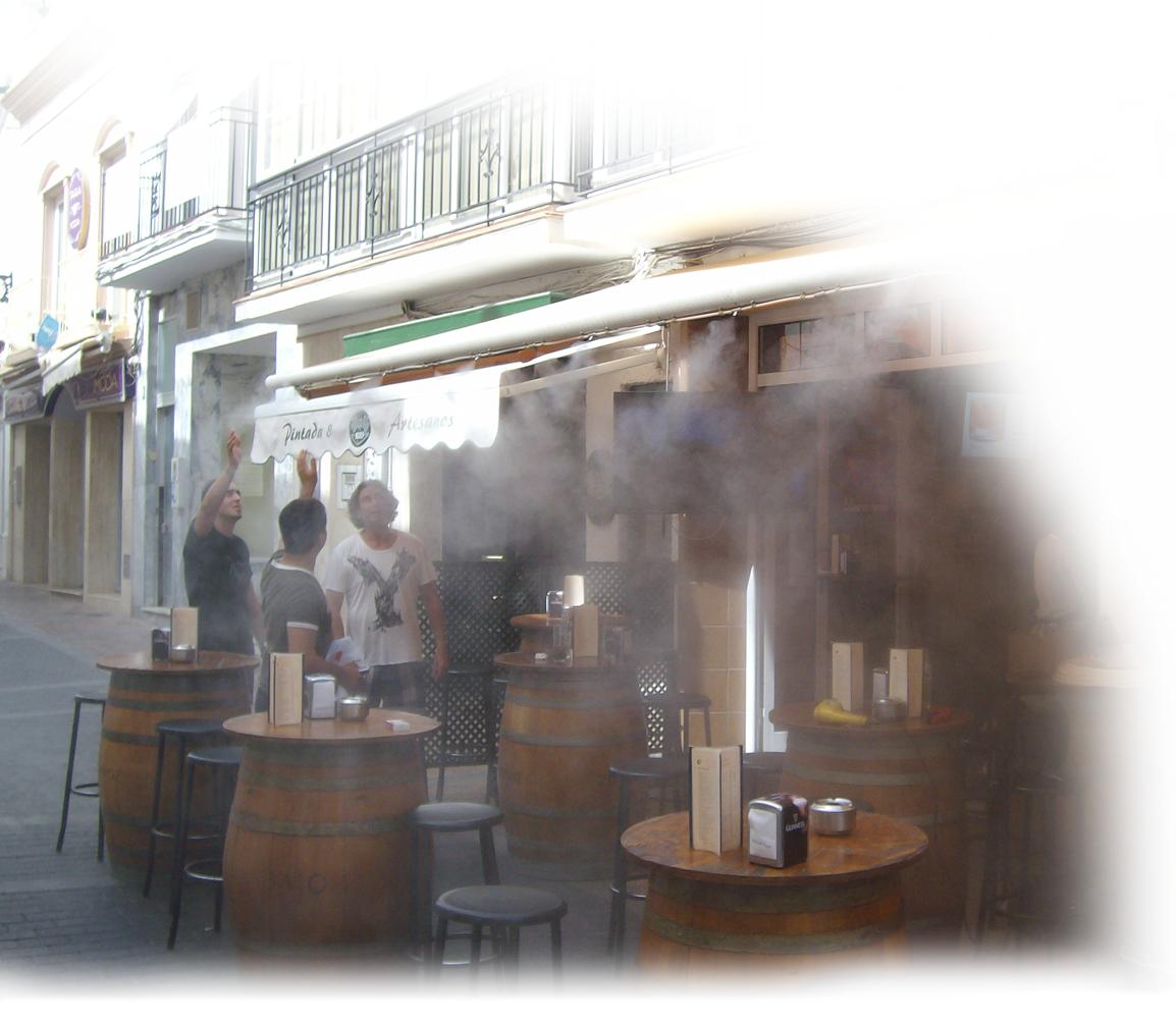 Brumisation De Terrasse De Cafe , Terrasse De Restaurant ... destiné Brumisateur De Jardin