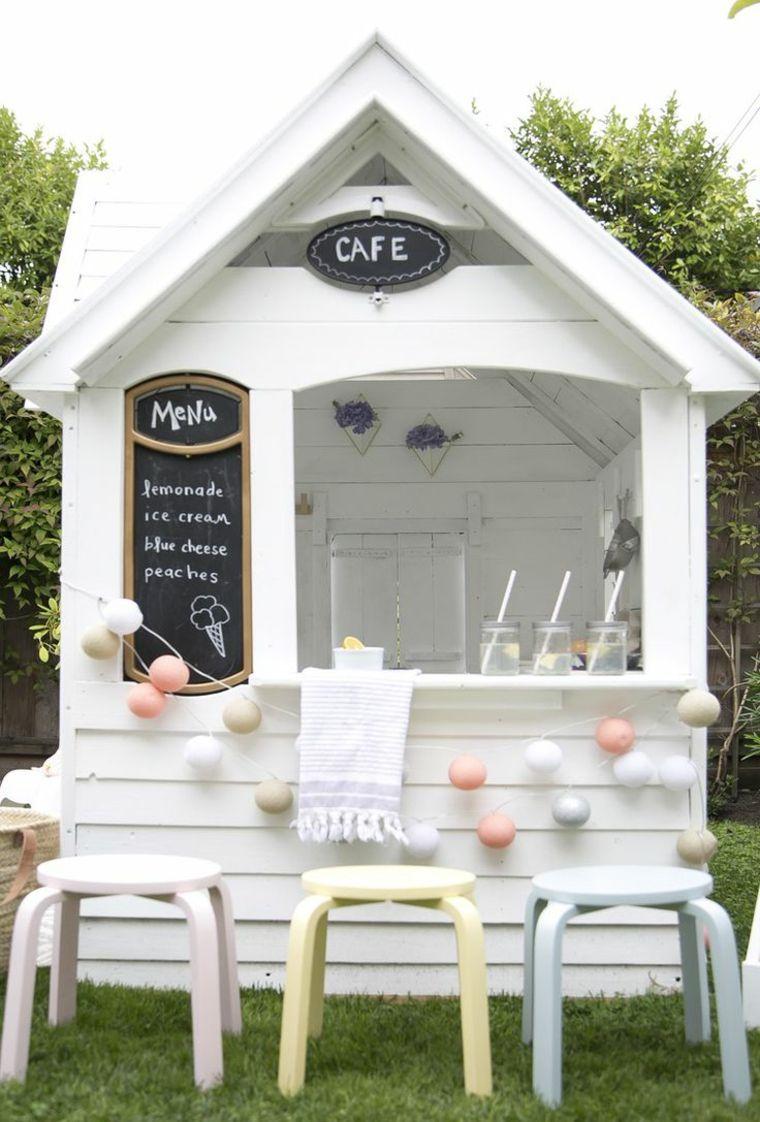 Cabane De Jardin Enfant Avec Bar Et Jeux En Plein Air ... avec Maison De Jardin Pour Enfants