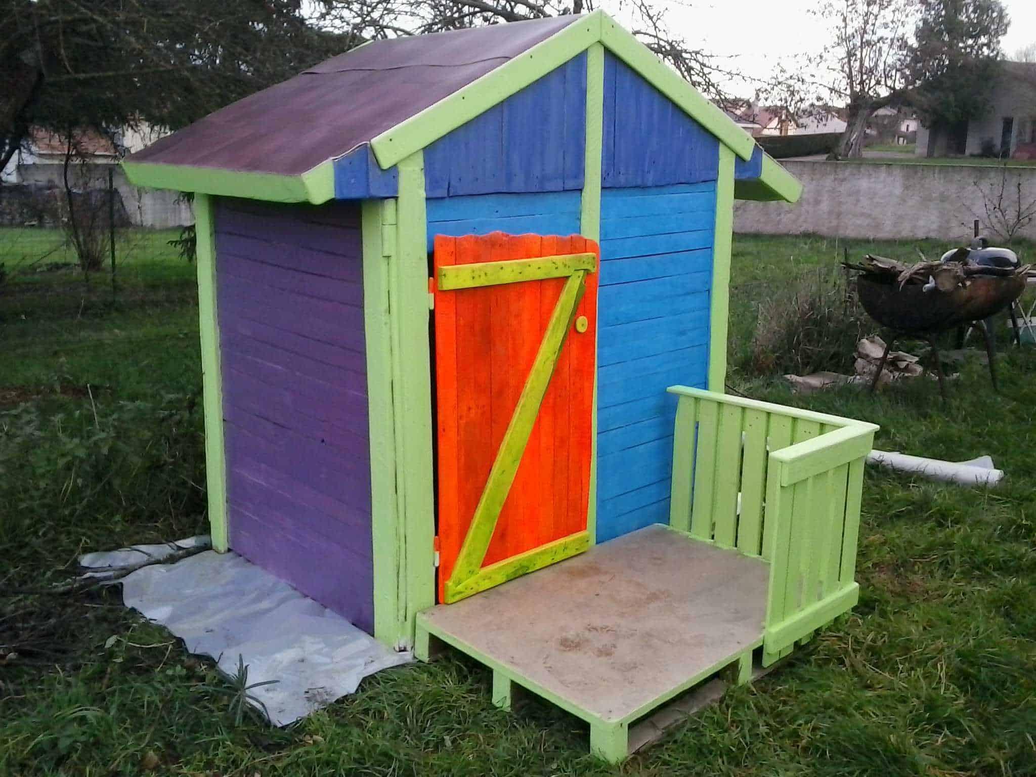 Cabane De Jardin Pour Enfants / Children Play House & Its ... destiné Maison De Jardin Pour Enfants