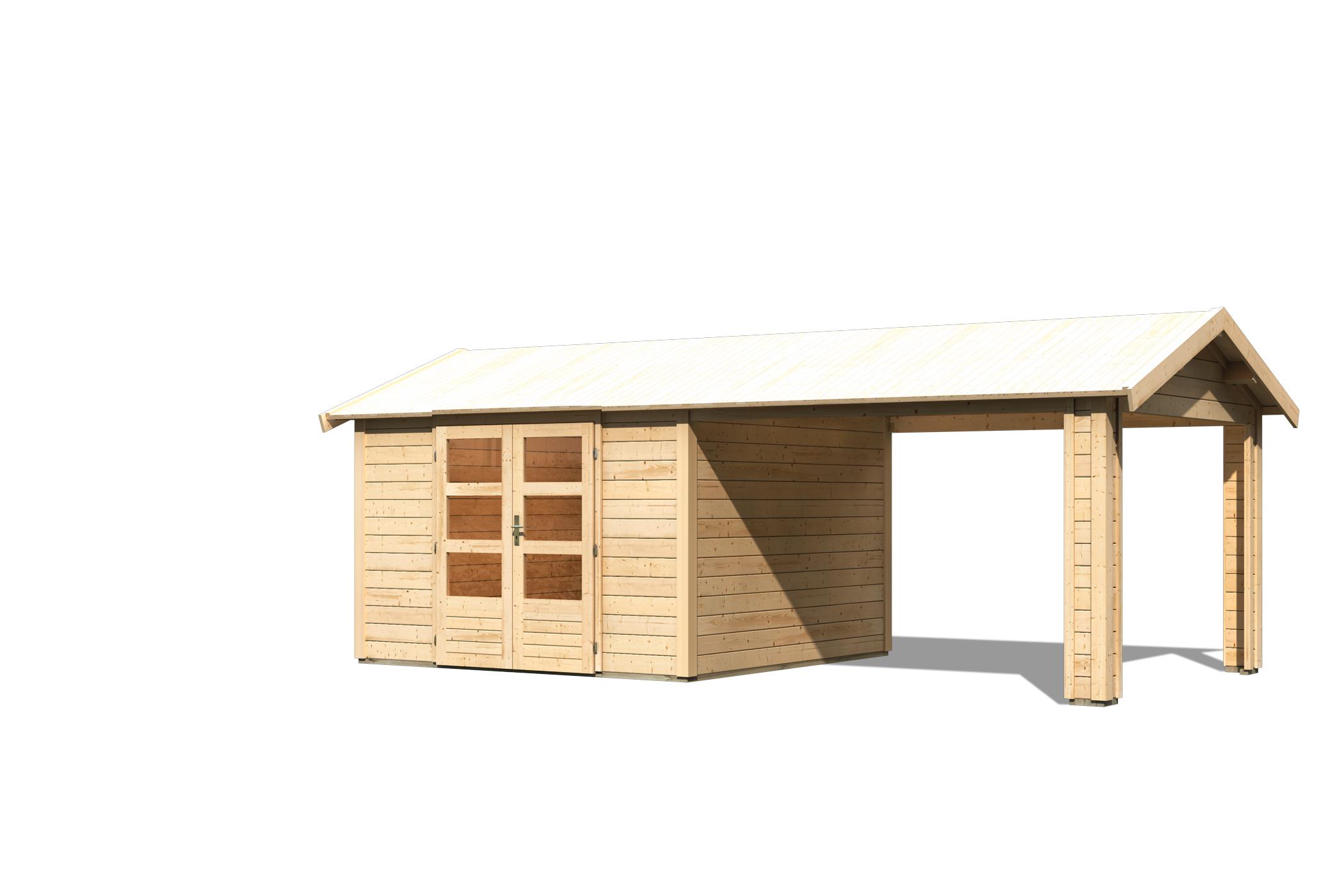 Cabane De Jardin Tastrup 7 Avec Abri 604 X 304 X 250 Cm serapportantà Abri De Jardin En Cedre
