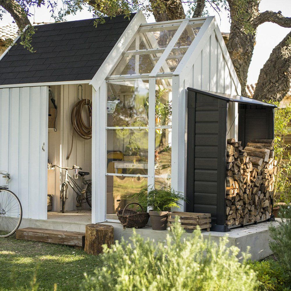 Cabane De Jardin : Une Pièce En Plus À Adopter ? | Cabane ... tout Abri De Jardin Avec Serre
