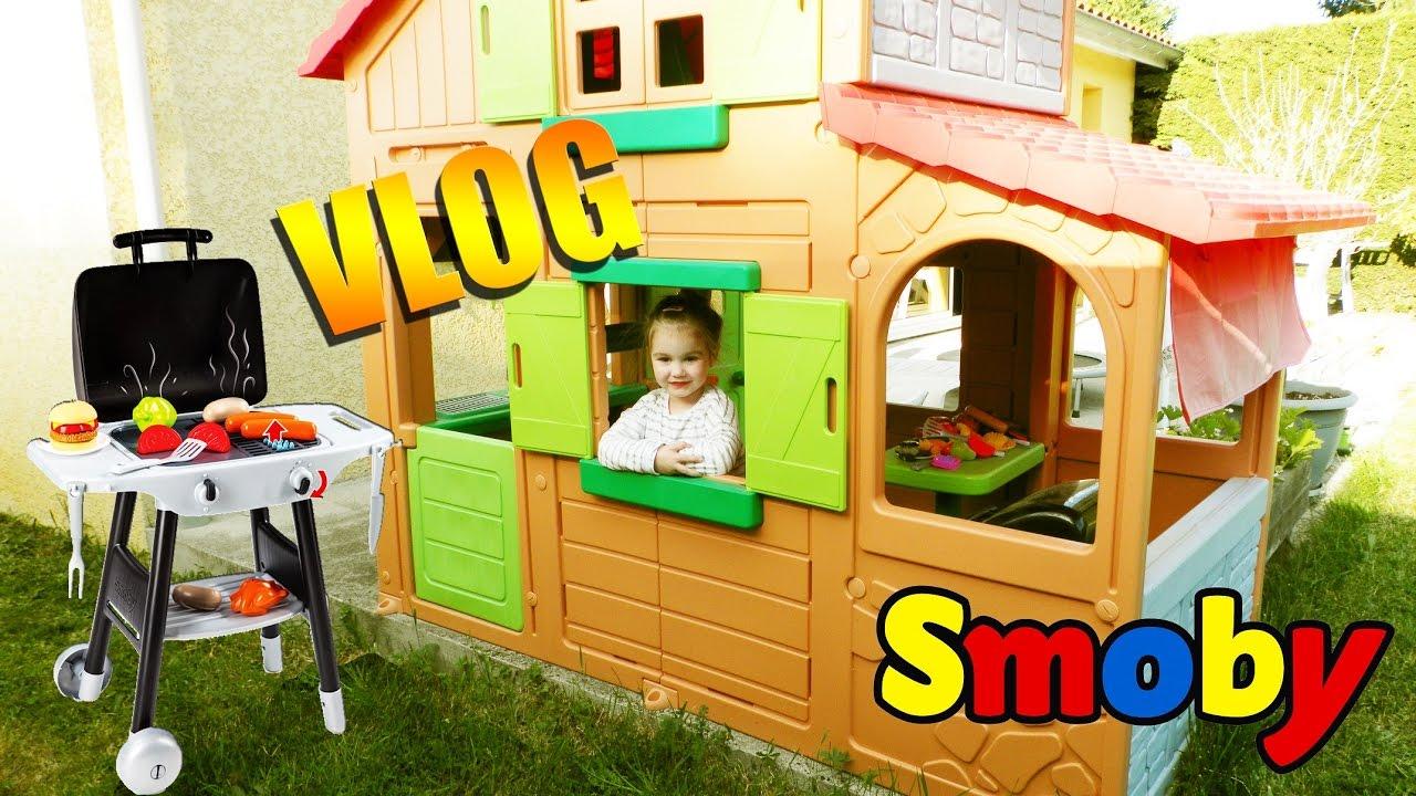 Cabane D'extérieur Maison Duplex Pour Enfant Et Barbecue Smoby ! Visite  (Outdoor) serapportantà Maison De Jardin Smoby