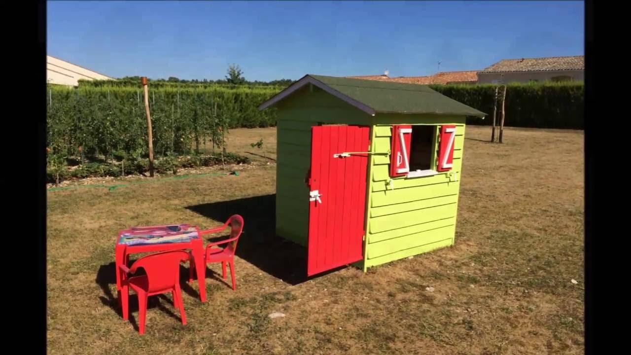 Cabane En Bois De Palettes Pour Enfant - à Cabane De Jardin En Bois Enfant