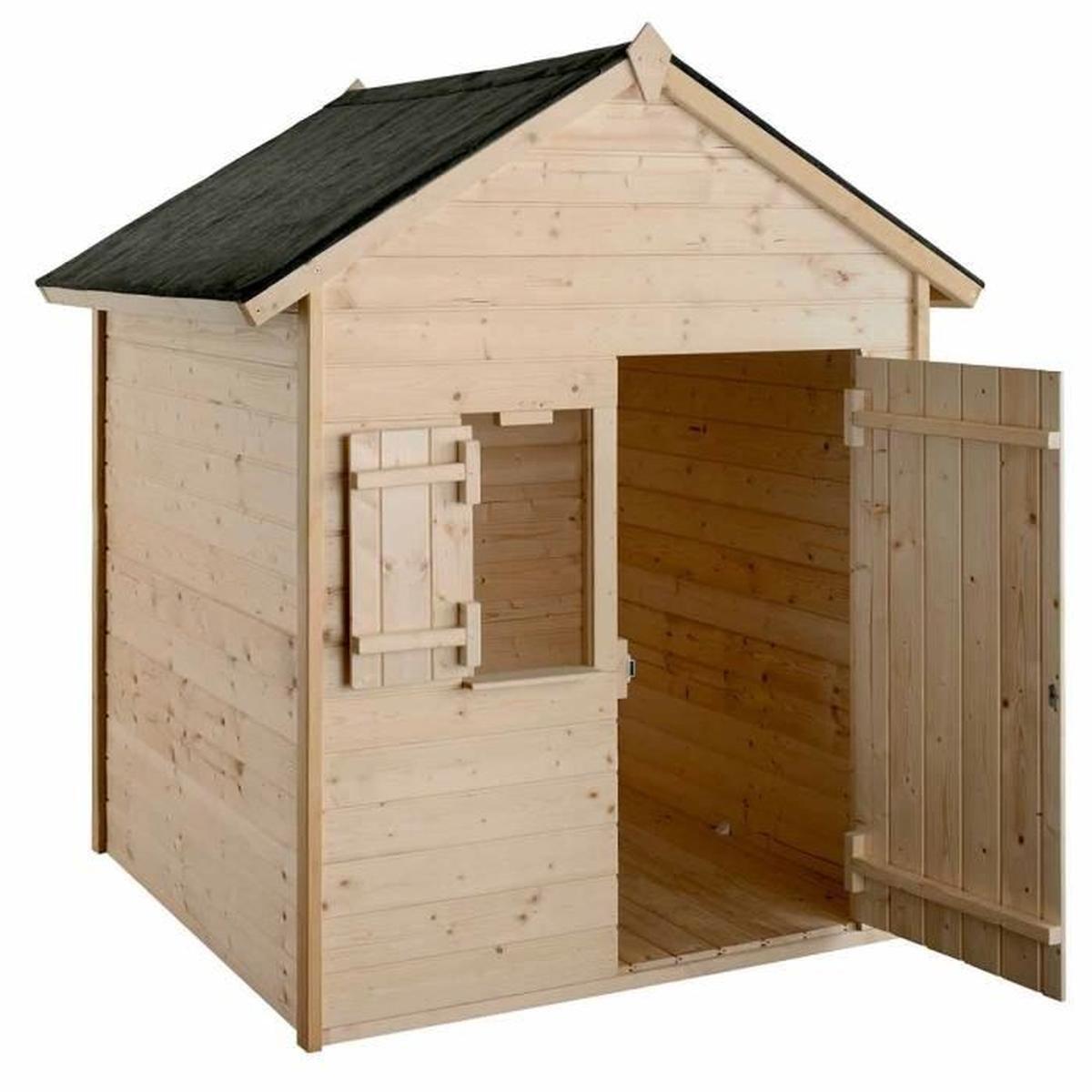 Cabane En Bois Janaka Nc - Achat / Vente Maisonnette ... pour Maisonnette De Jardin Pas Cher