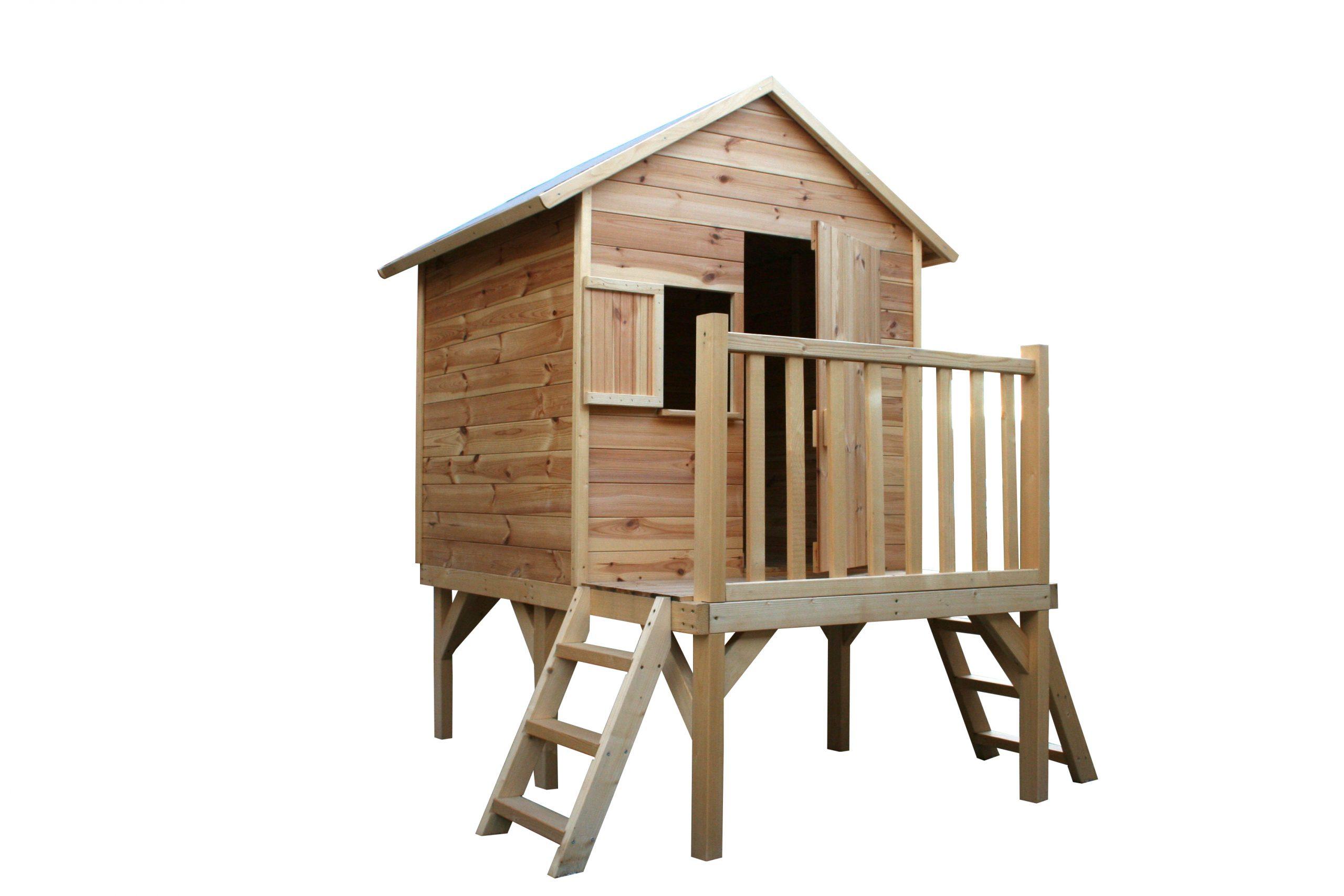 Cabane En Bois Pour Enfant Iloa serapportantà Cabane De Jardin Enfant Bois