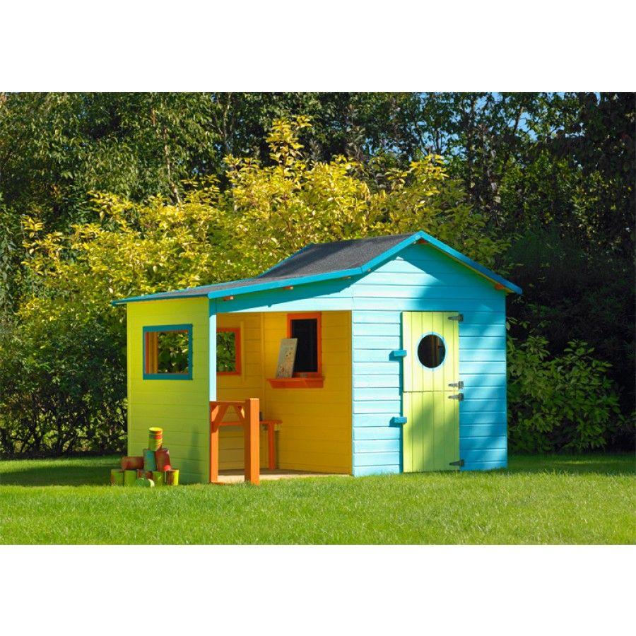 Cabane En Bois Pour Enfants Hacienda Cerland | Maisonnette ... avec Cabane De Jardin Enfant Pas Cher