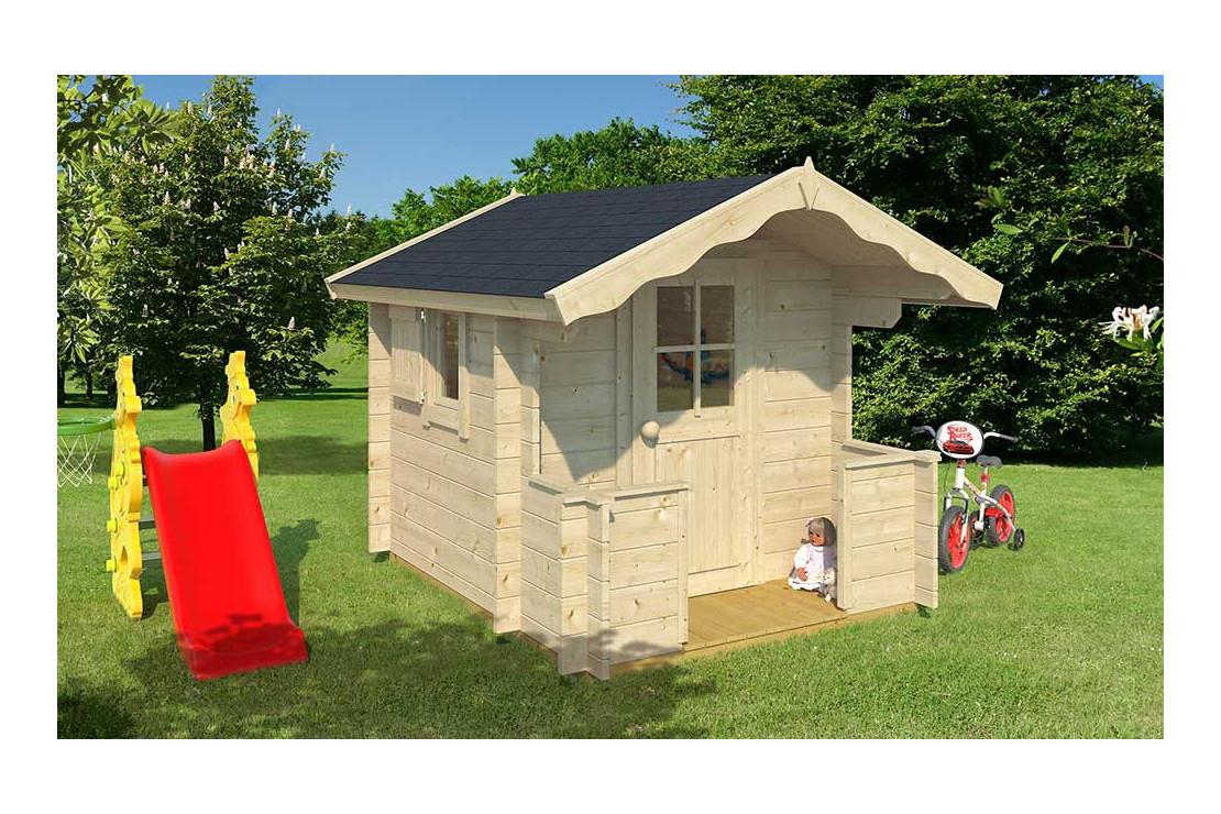 Cabane Enfant Billy 28Mm - 2,08M² Intérieur pour Cabane De Jardin Enfant Bois
