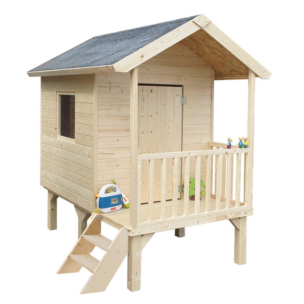 Cabane Enfant Bois Kangourou Sur Pilotis encequiconcerne Cabanne Jardin Enfant