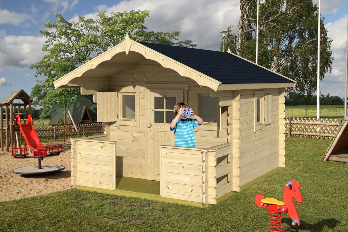 Cabane Enfant Kids 28Mm - 4,6M² Intérieur serapportantà Maison Jardin Bois Enfant