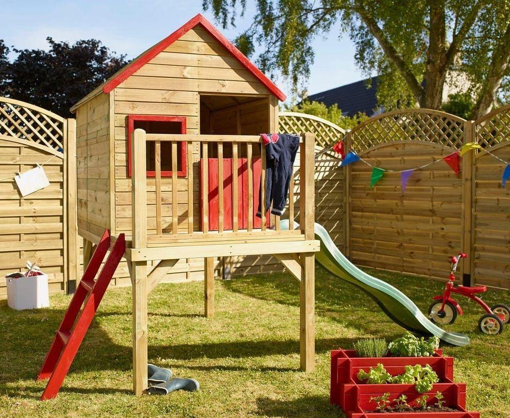 Cabane Enfant : Modèles Pour Le Jardin | Cabane Enfant, Plan ... dedans Maisonnette Jardin Occasion