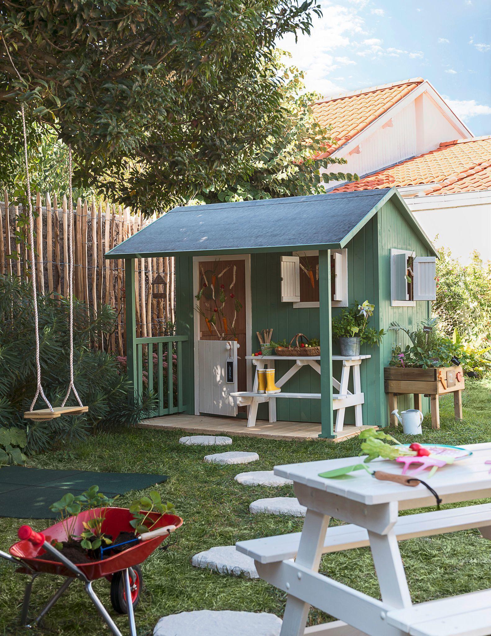 Cabane Enfant : Modèles Pour Le Jardin | Jardin ... destiné Maison Jardin Bois Enfant