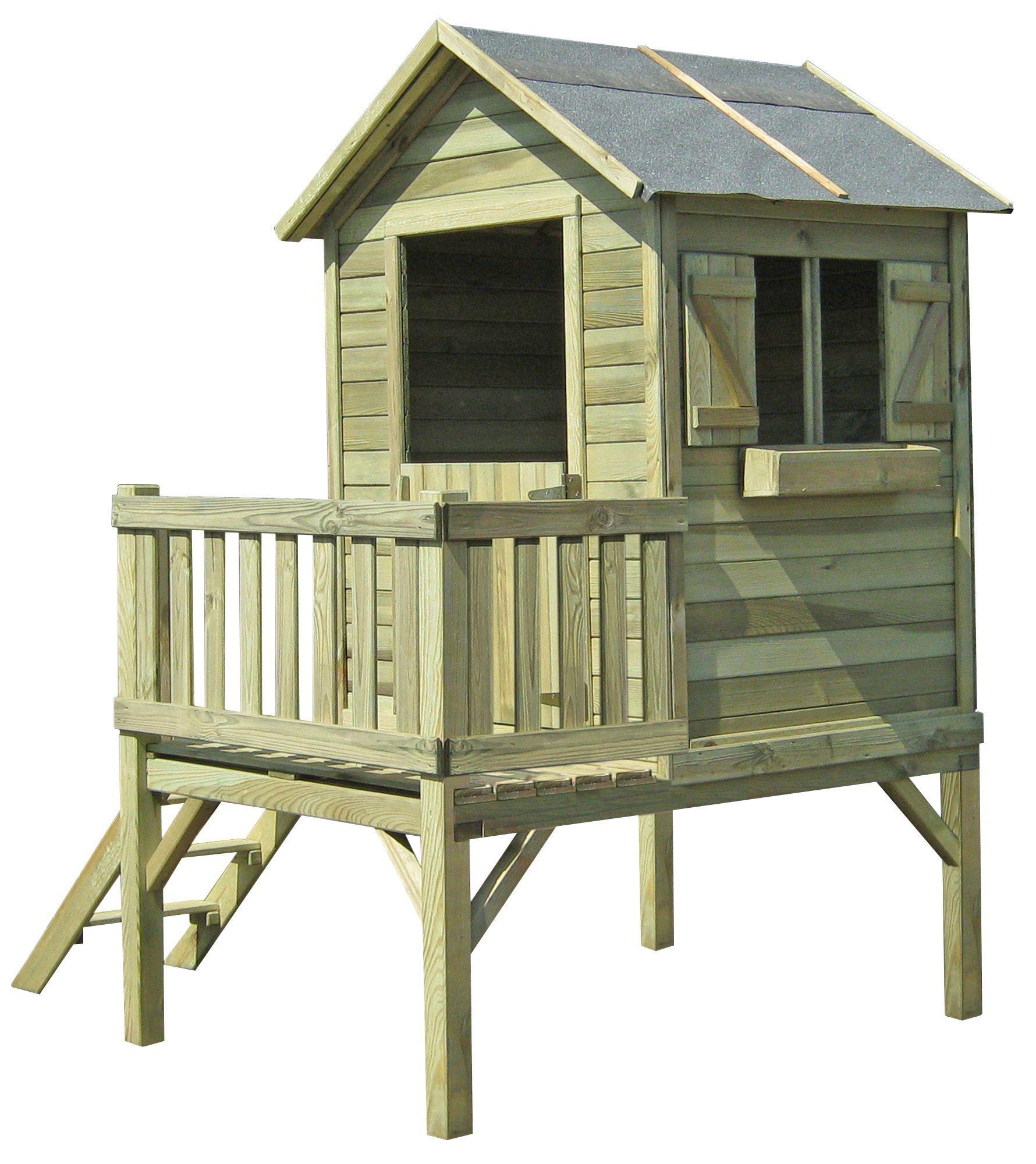 Cabane Enfant : Modèles Pour Le Jardin | Maisonnette En Bois ... encequiconcerne Cabane De Jardin Enfant Pas Cher