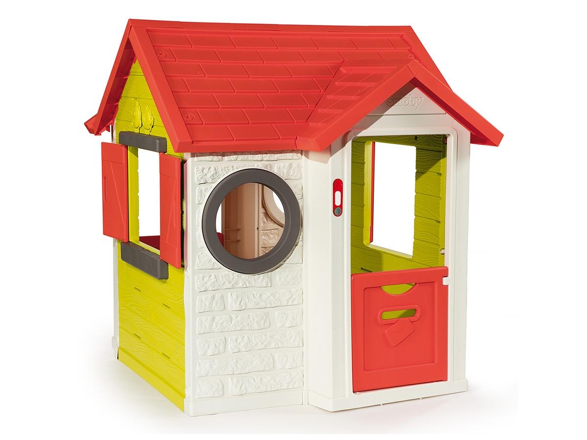Cabane Enfant Smoby Modèle My House Pvc À Petit Prix encequiconcerne Cabane De Jardin Smoby