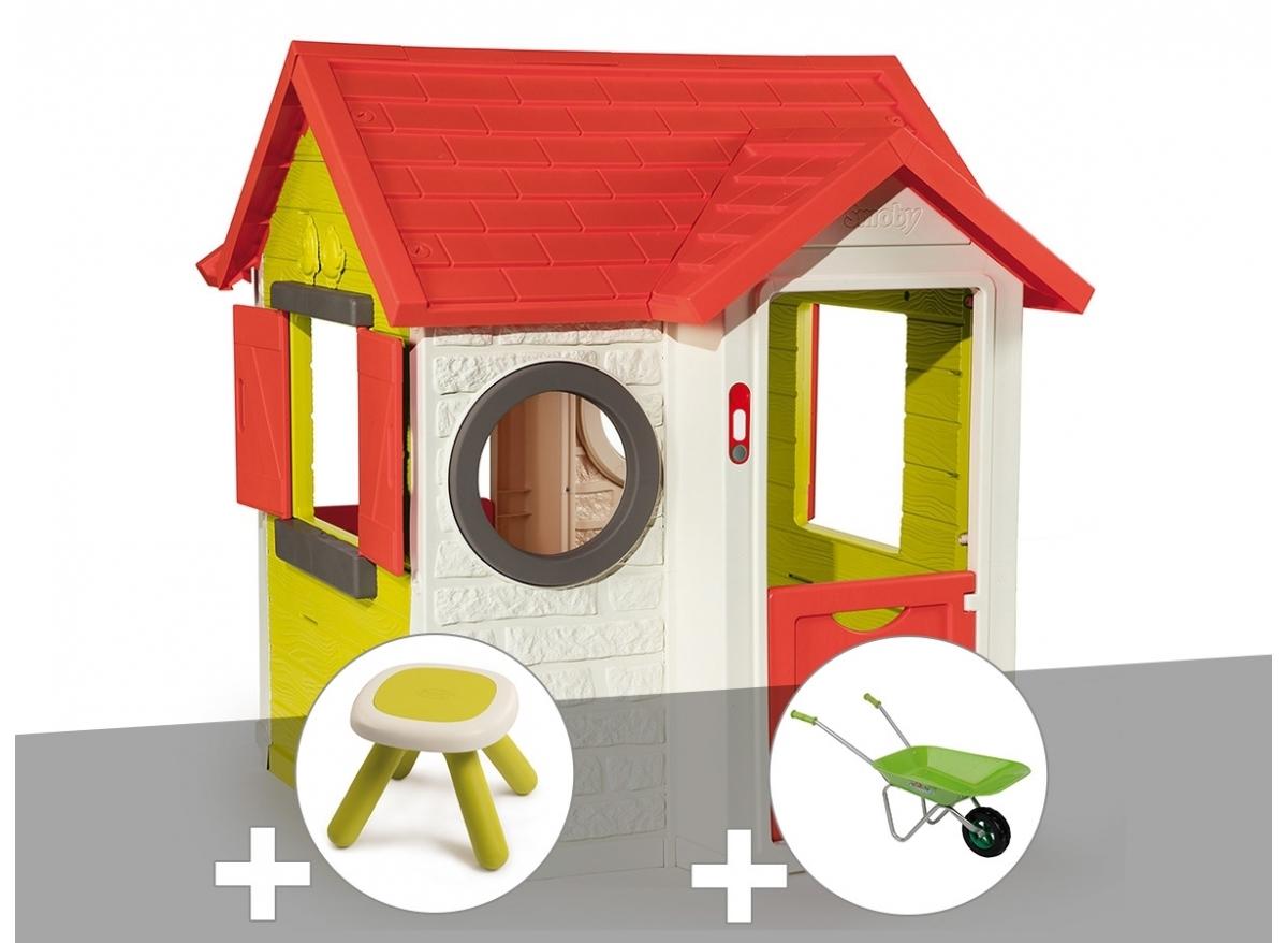 Cabane Enfant Smoby Modèle My House Pvc À Petit Prix encequiconcerne Maison De Jardin Smoby