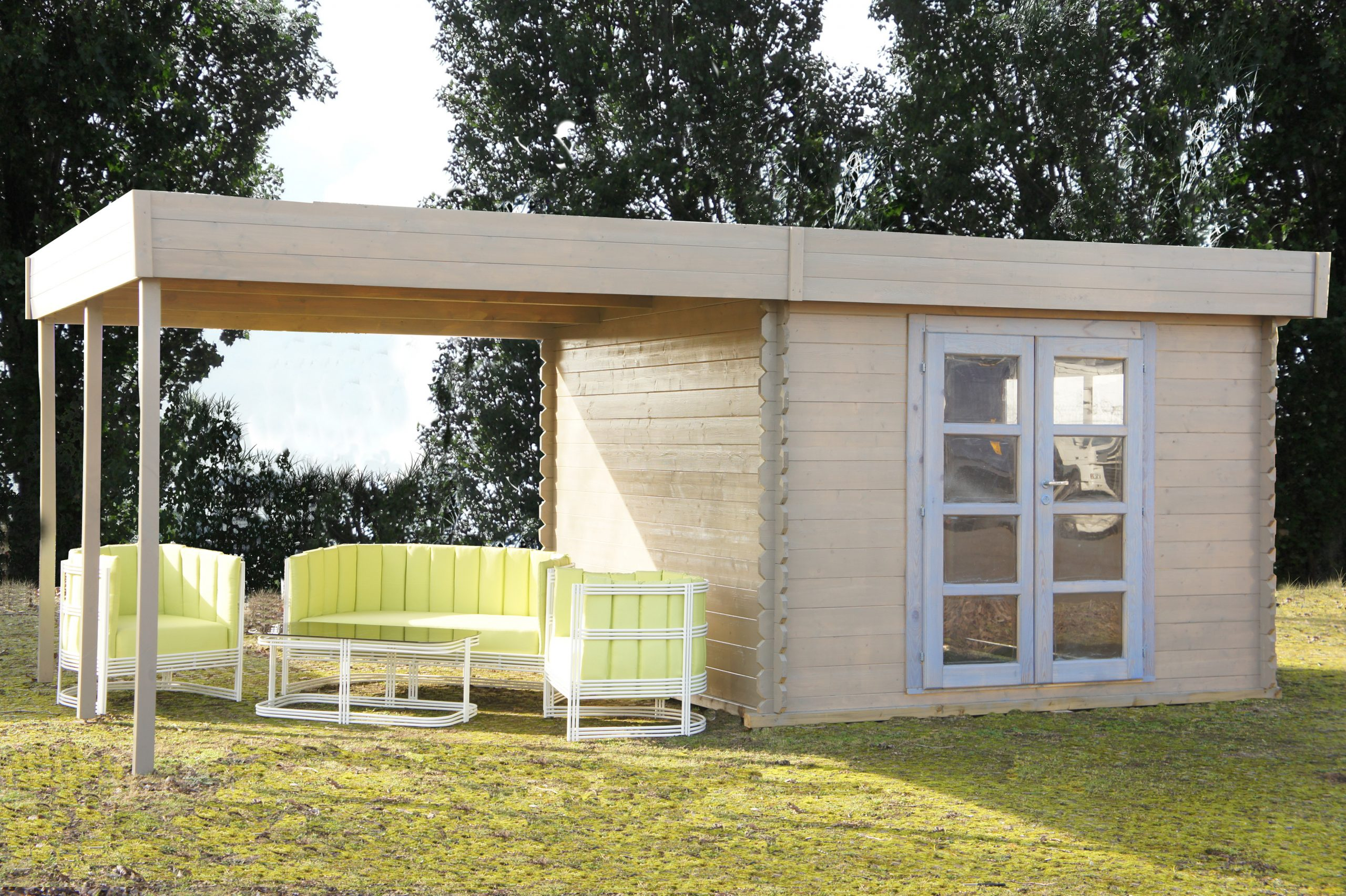 Cabane Jardin Toit Plat destiné Chalet De Jardin Leroy Merlin