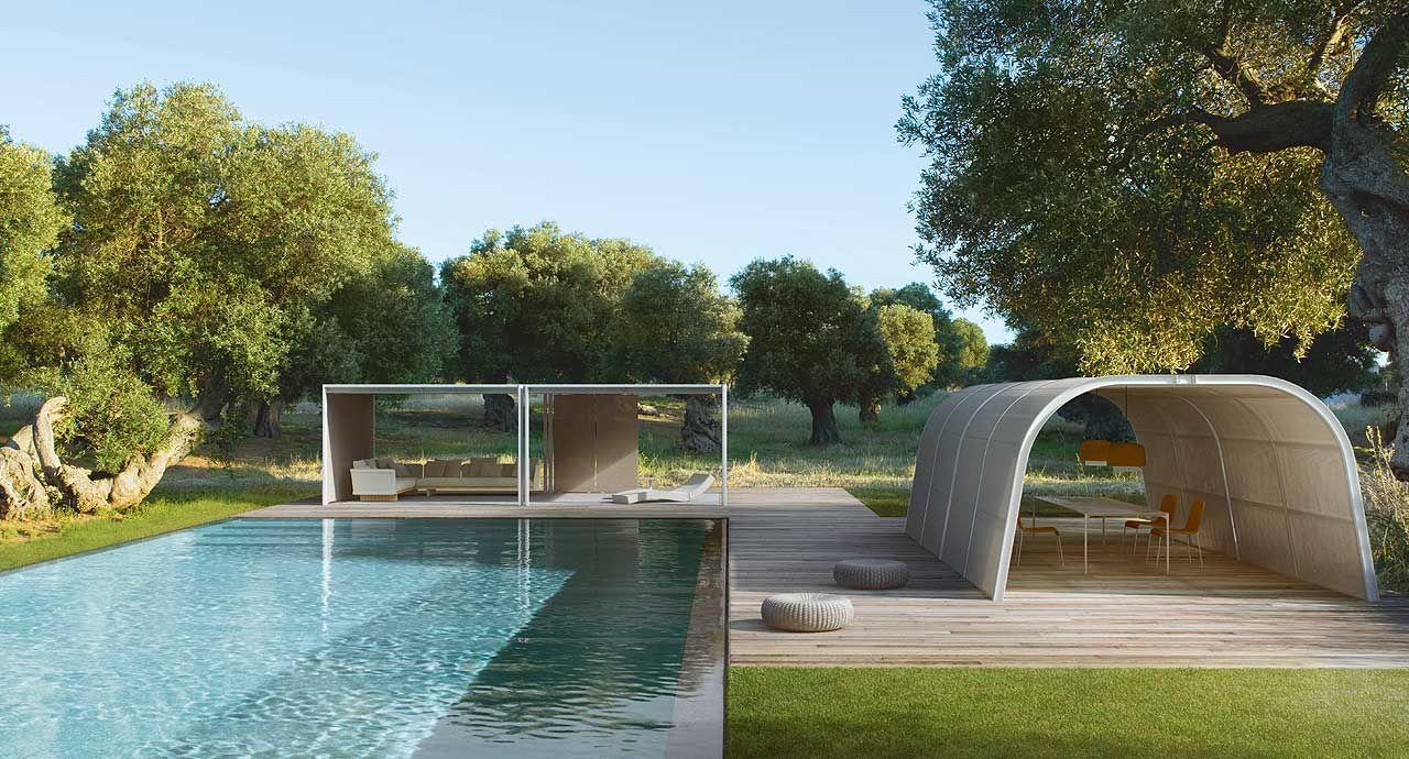 Cabanne - Modulo Tunnel | Outdoor | Terrasse Design ... concernant Cabanne De Jardin