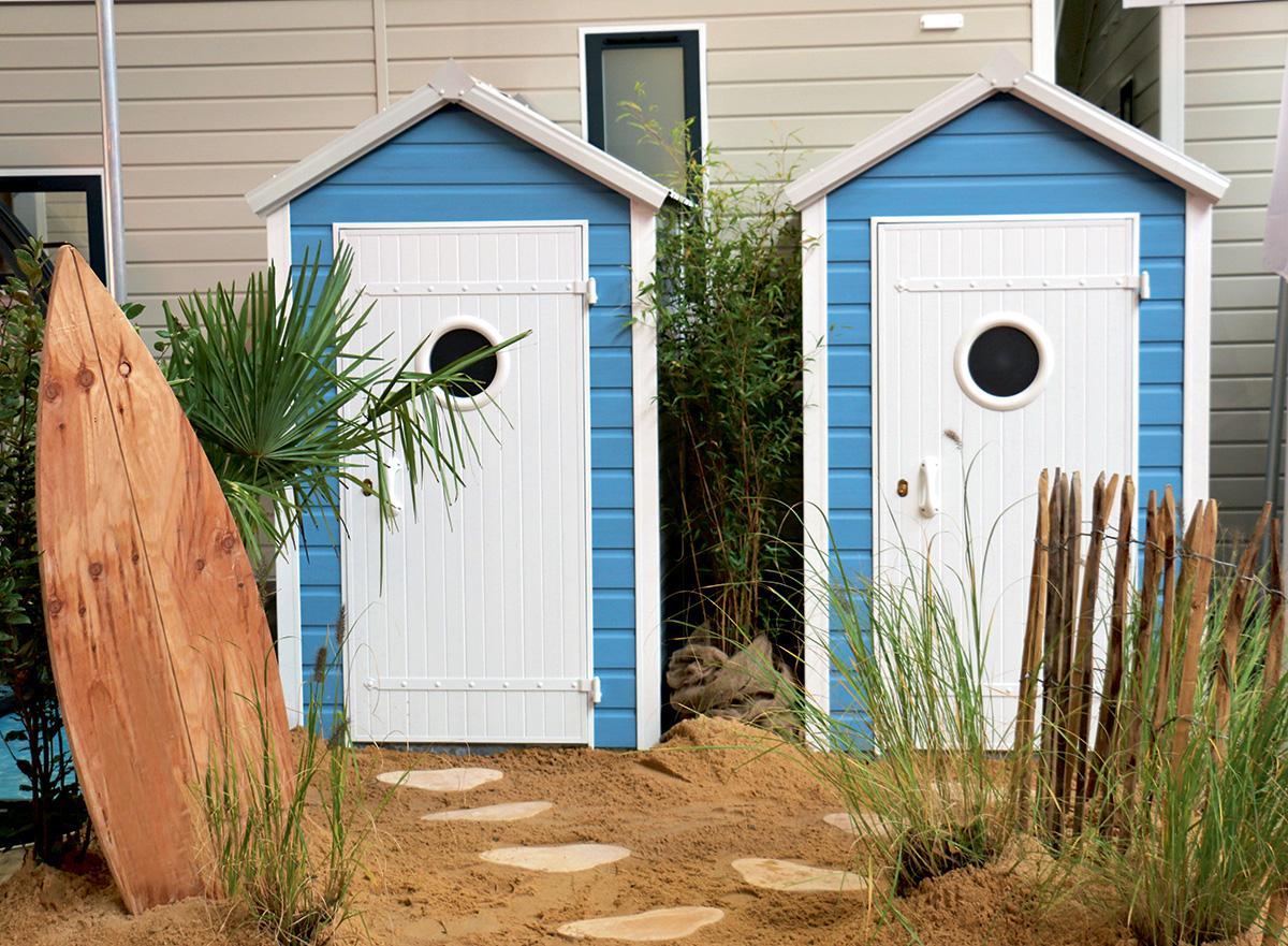 Cabine De Plage En Bois Concept - Idees Conception Jardin pour Cabine De Plage Pour Jardin