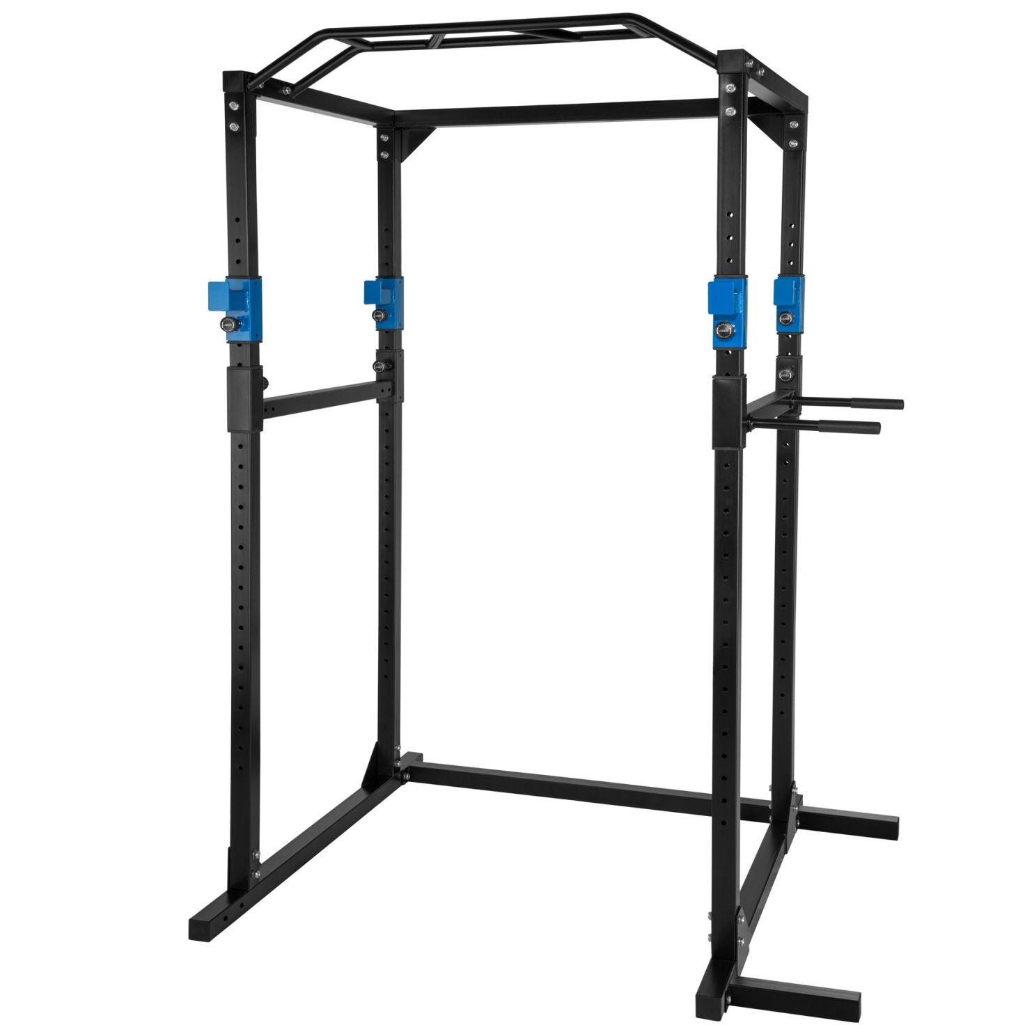 Cage De Musculation, Rack, Station De Fitness Noir/bleu serapportantà Barre De Traction Jardin