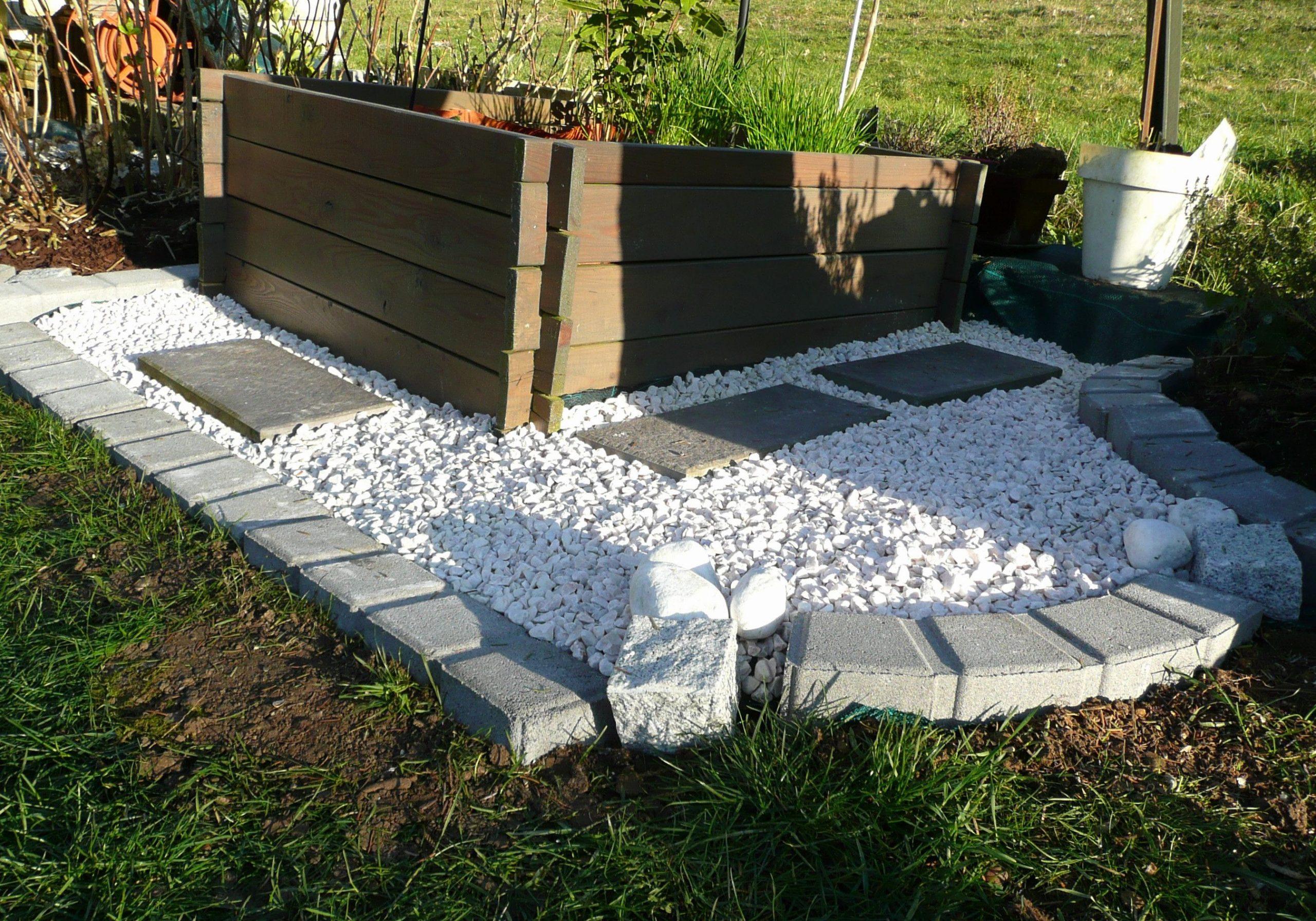 Cailloux Blanc Jardin Fresh Amenagement Jardin Avec Gravier ... avec Modele De Jardin Avec Galets