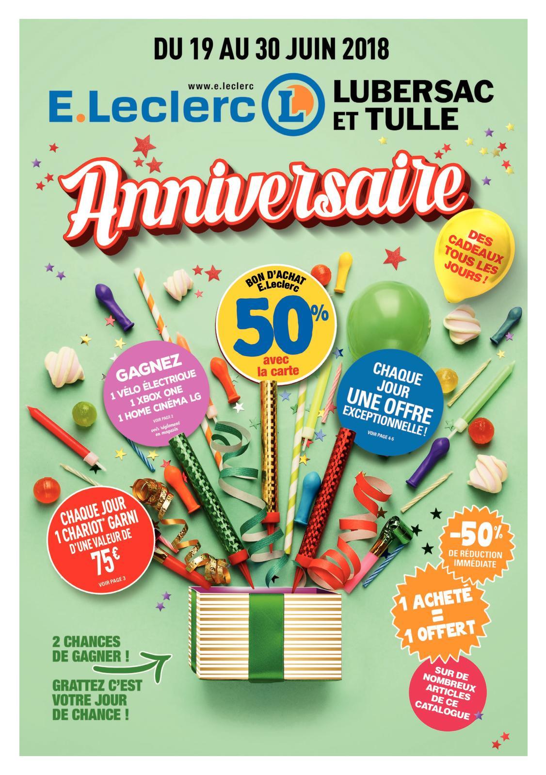 Calaméo - Catalogue Anniversaire E.leclerc Tulle Lubersac destiné Salon De Jardin Leclerc Catalogue