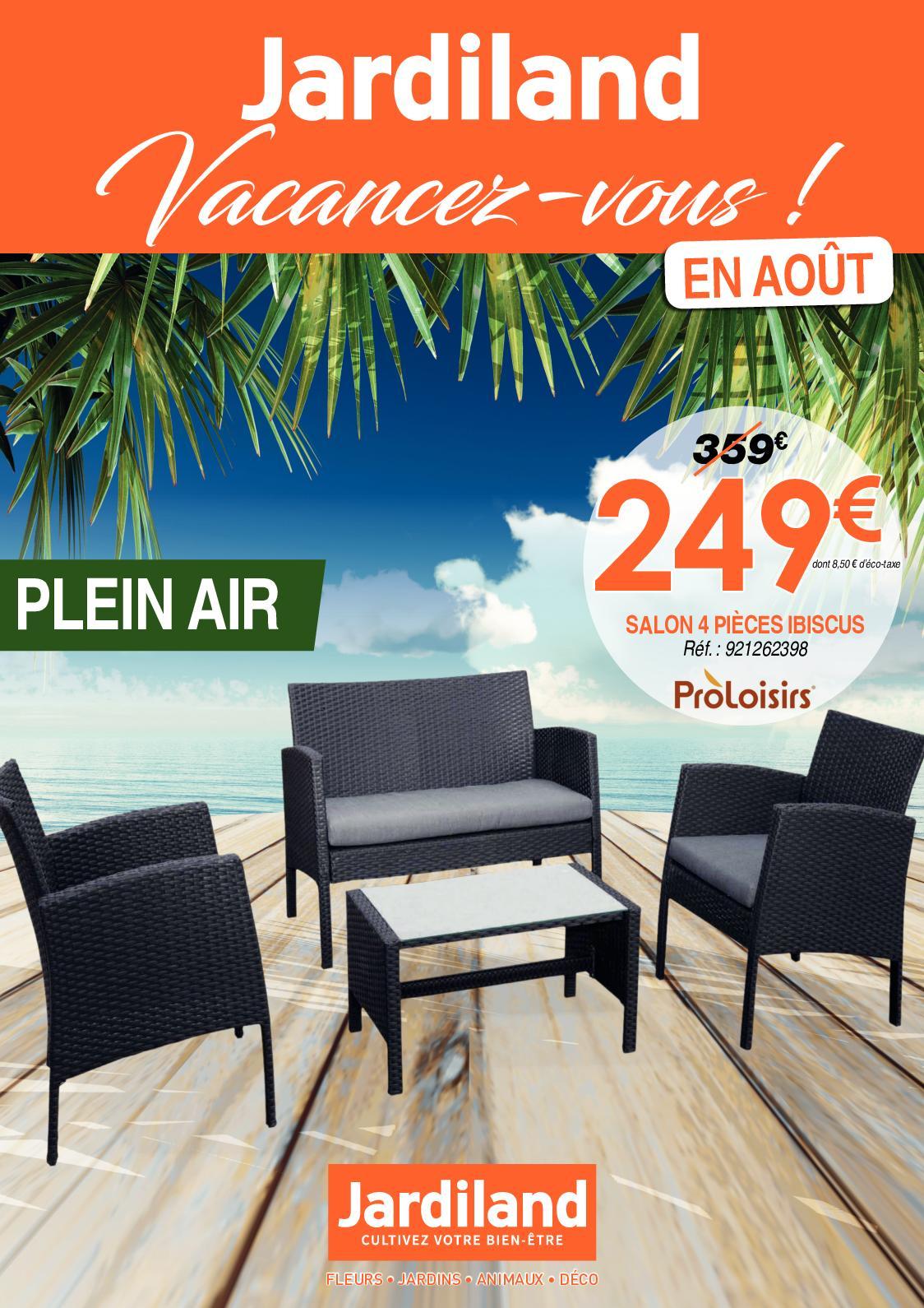 Calaméo - Catalogue Jardiland Août 2018 tout Table De Jardin Aluminium Jardiland