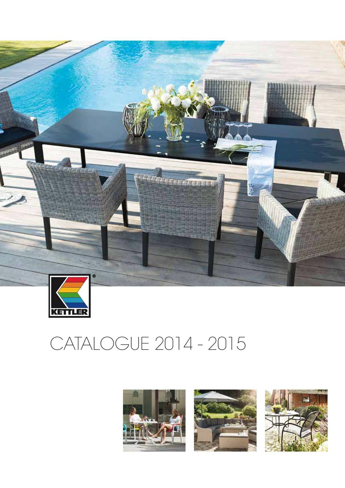 Calaméo - Catalogue Kettler 2014-2015 encequiconcerne Table De Jardin Kettler