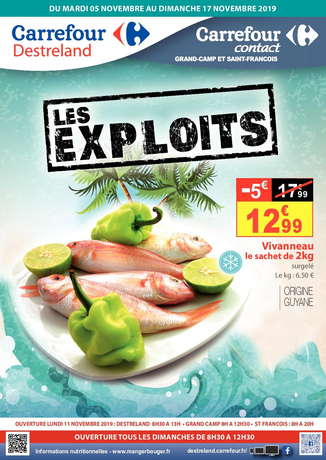 Calaméo - Catalogue Les Exploits - Novembre 2019 intérieur Salon Jardin Resine Carrefour