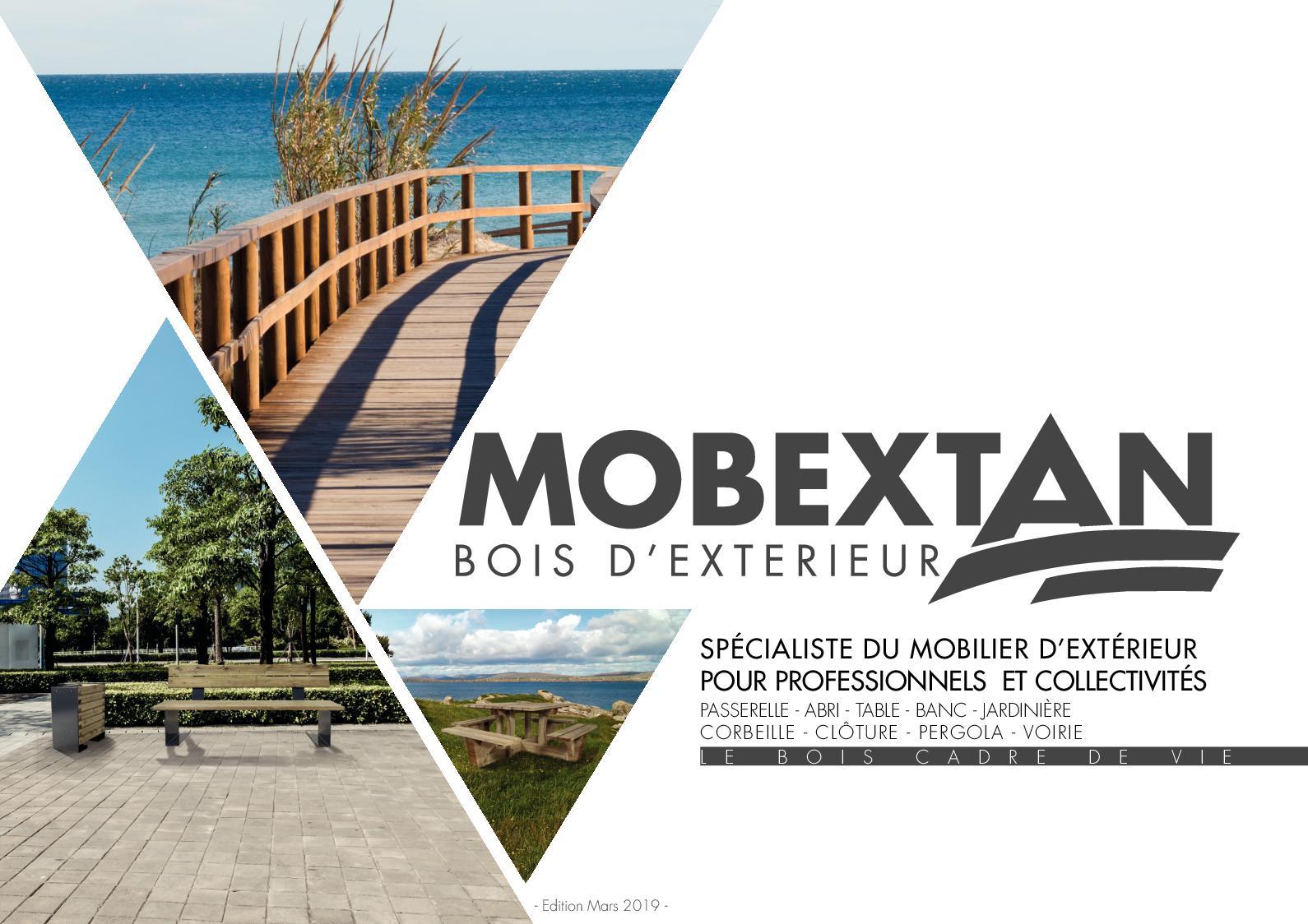 Calaméo - Catalogue Mobextan - Spécialiste Du Mobilier D ... concernant Table De Jardin En Bois Avec Banc Integre