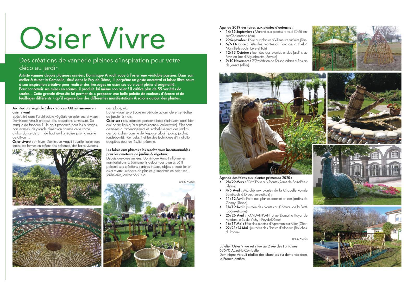 Calaméo - Osier Vivre - Maison Et Jardin serapportantà Installation Fontaine De Jardin