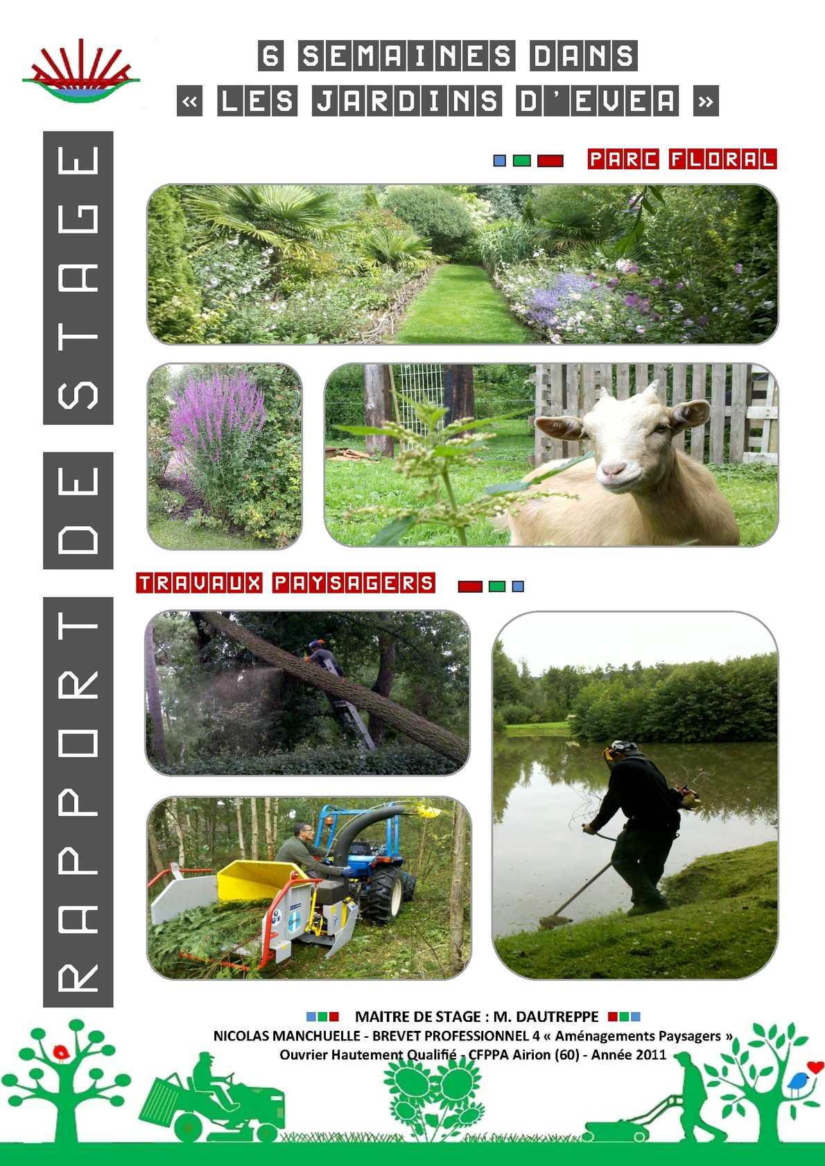 Calaméo - Rapport De Stage Bp4 Aménagements Paysagers ... destiné Exemple D Aménagement De Jardin