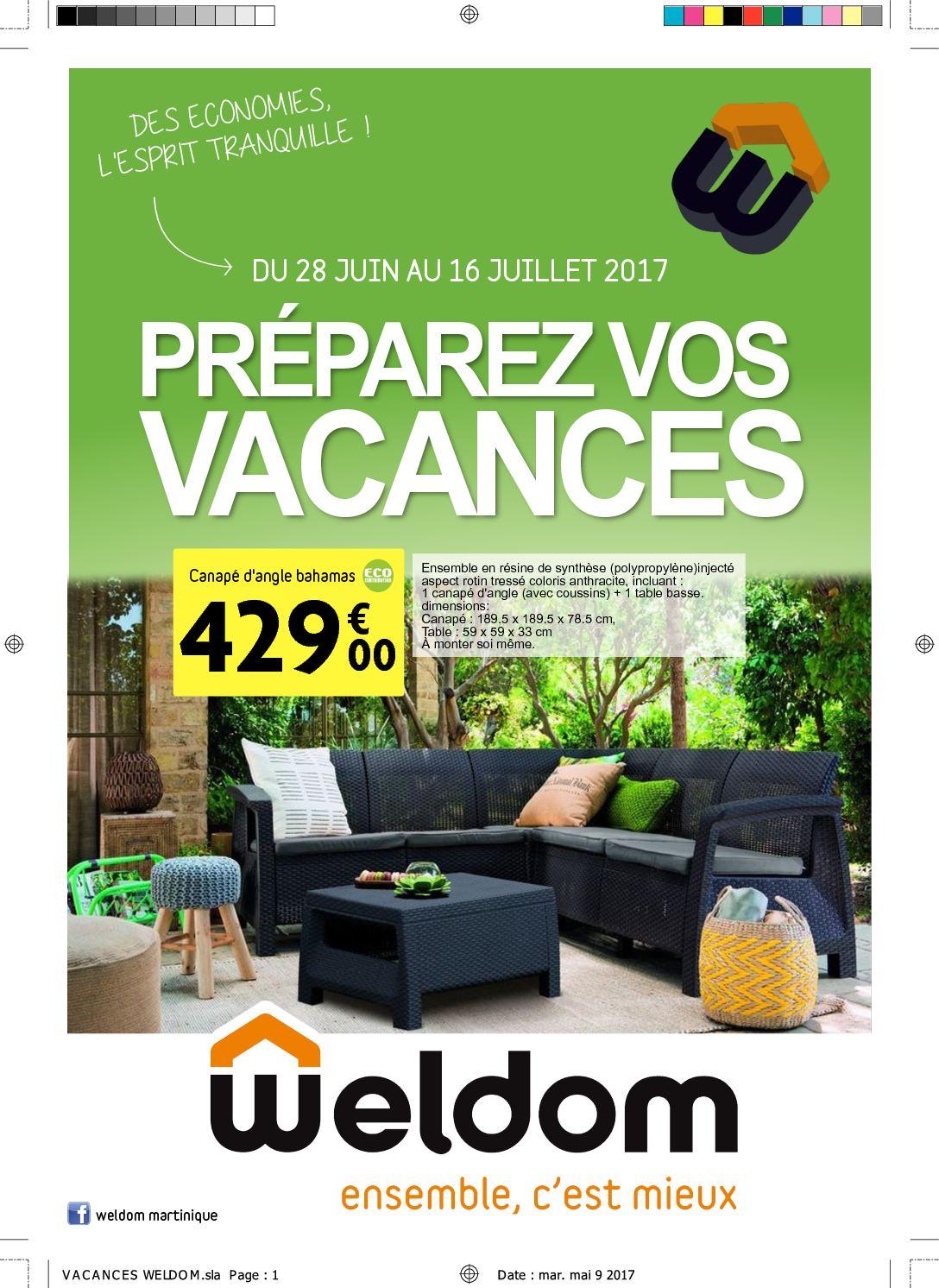 Calaméo - Vacances Weldom tout Salon De Jardin Weldom
