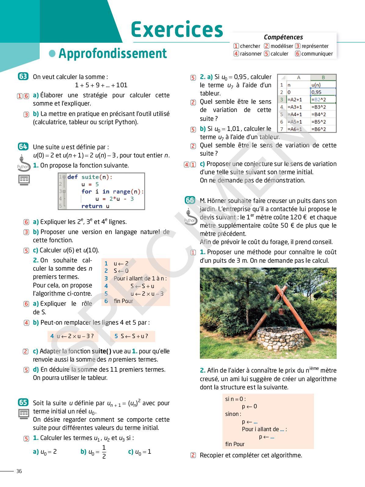 Calao Mathématiques 1Re Stmg, Sthr, St2S, Std2A - Calameo ... pour Forage Jardin