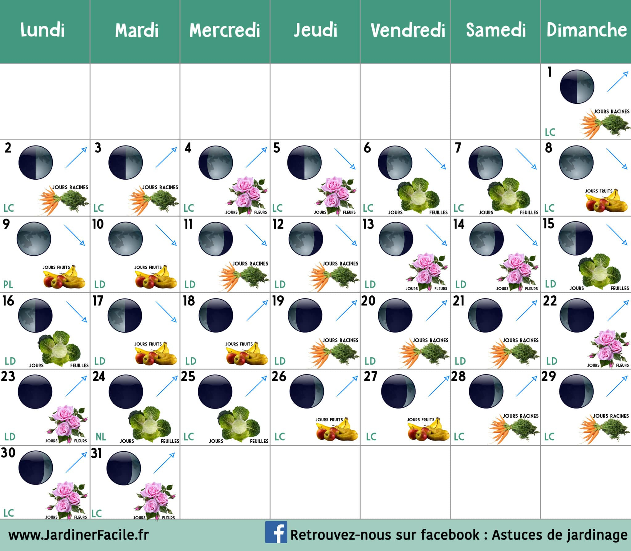 Calendrier Lunaire Mars 2020 : Jardiner Avec La Lune à Jardiner Bio Magazine