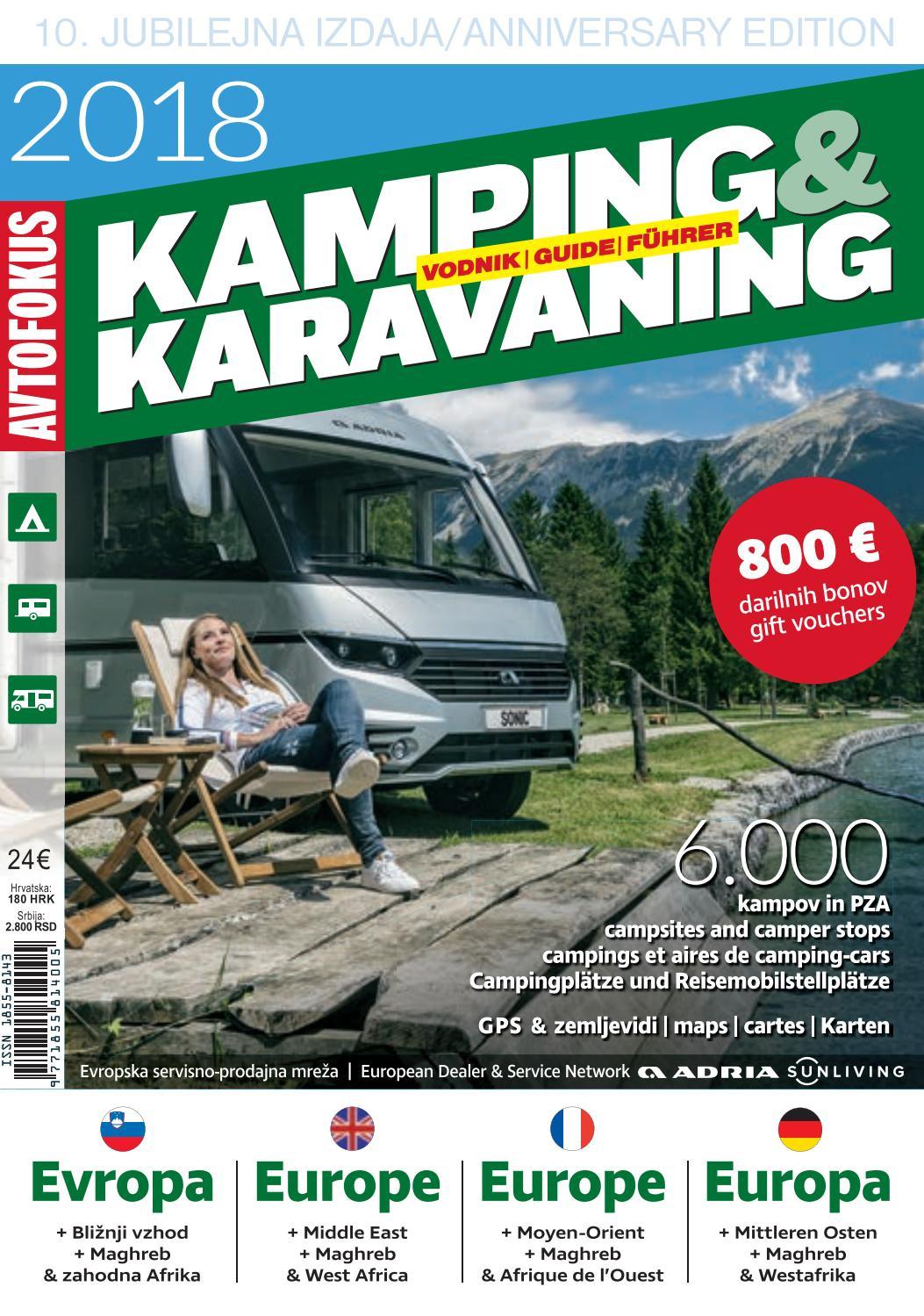 Camping Guide Europe 2018, Part 1: Albania-Norway By ... pour Vima Salon De Jardin