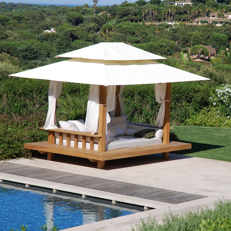 Canopy Garden Bed / Double / Contemporary / Fabric - Savana ... concernant Lit Exterieur Jardin