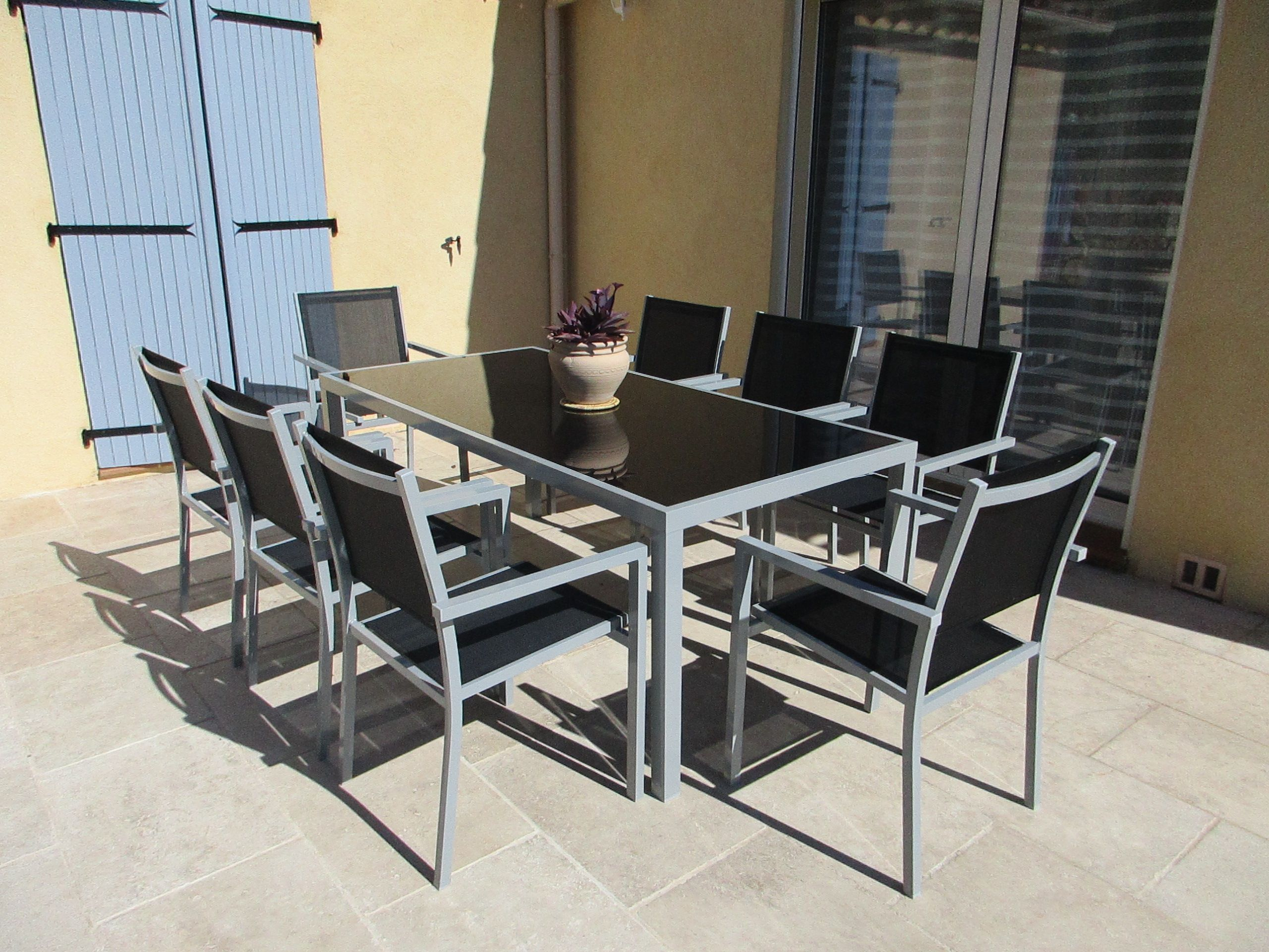 Capua 180   Agrément De Jardin, Mobilier Jardin Et Table De ... intérieur Salon De Jardin Aluminium 8 Places