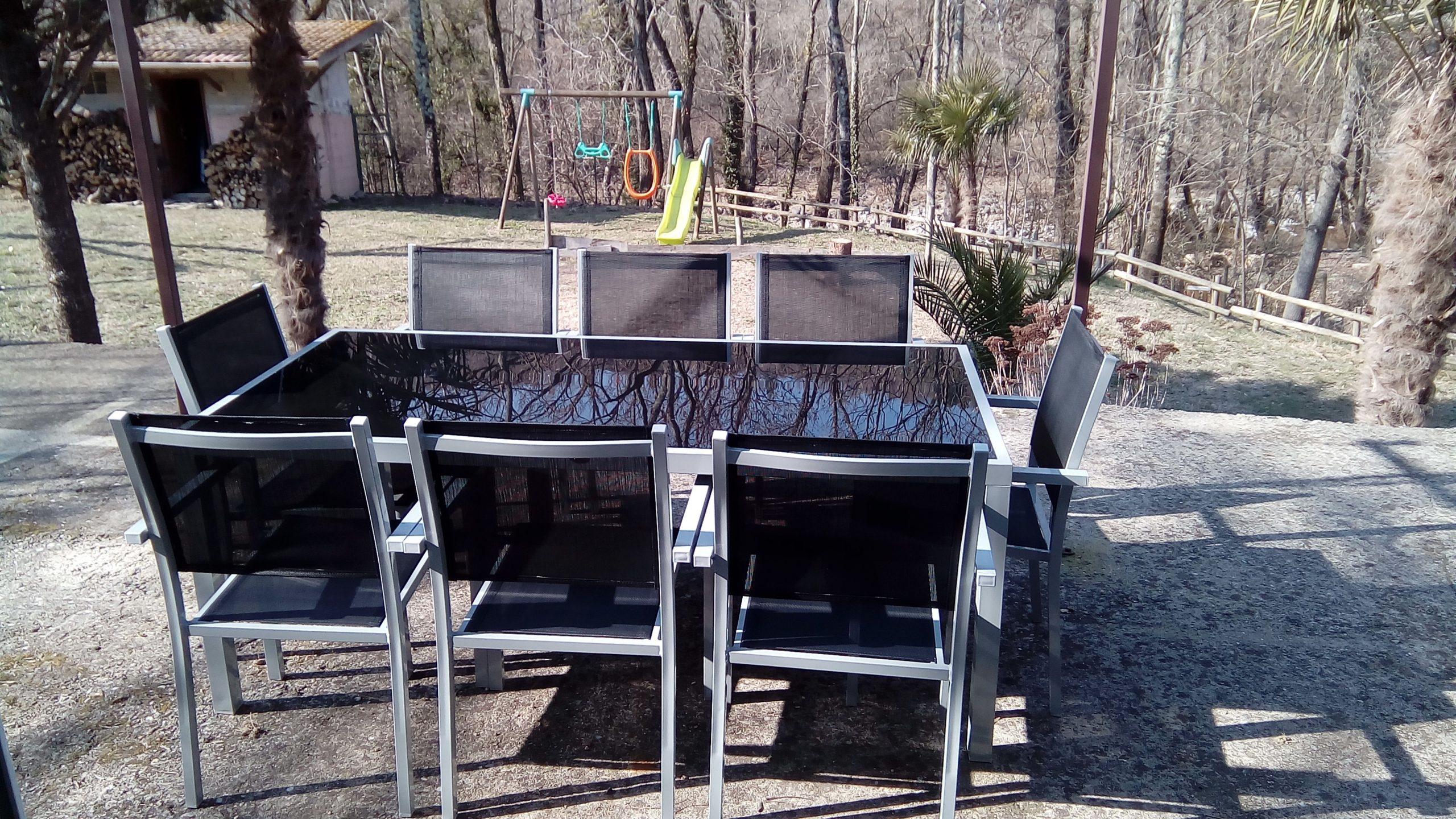 Capua 180   Tendance Aluminium   Salon De Jardin Aluminium ... à Gamm Vert Salon De Jardin