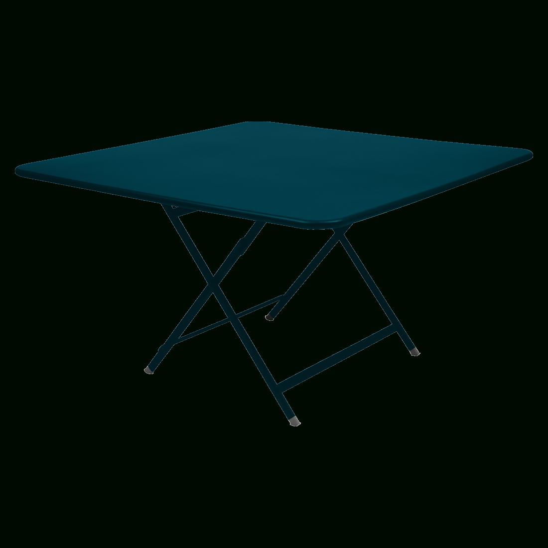 Caractère Square Table, Garden Table For 8, Outdoor Furniture pour Table De Jardin En Metal