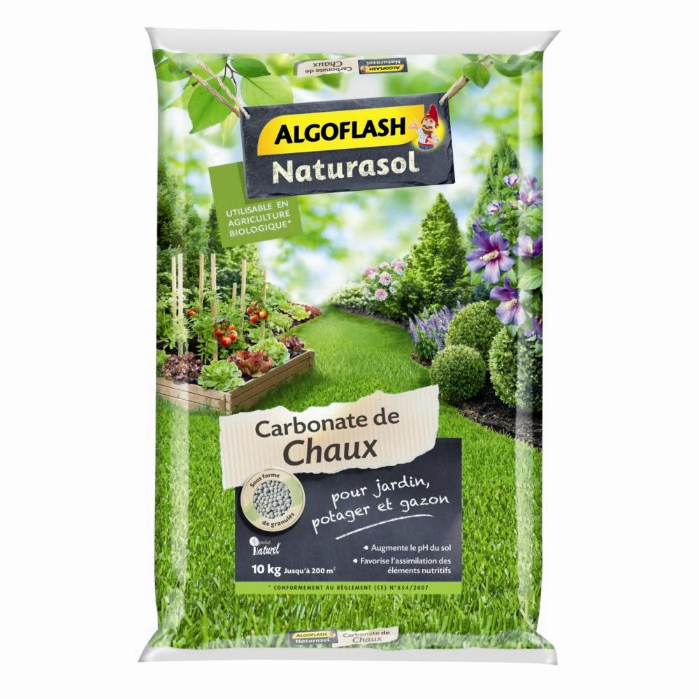 Carbonate De Chaux Algoflash Naturasol 10 Kg dedans Chaux Pour Jardin