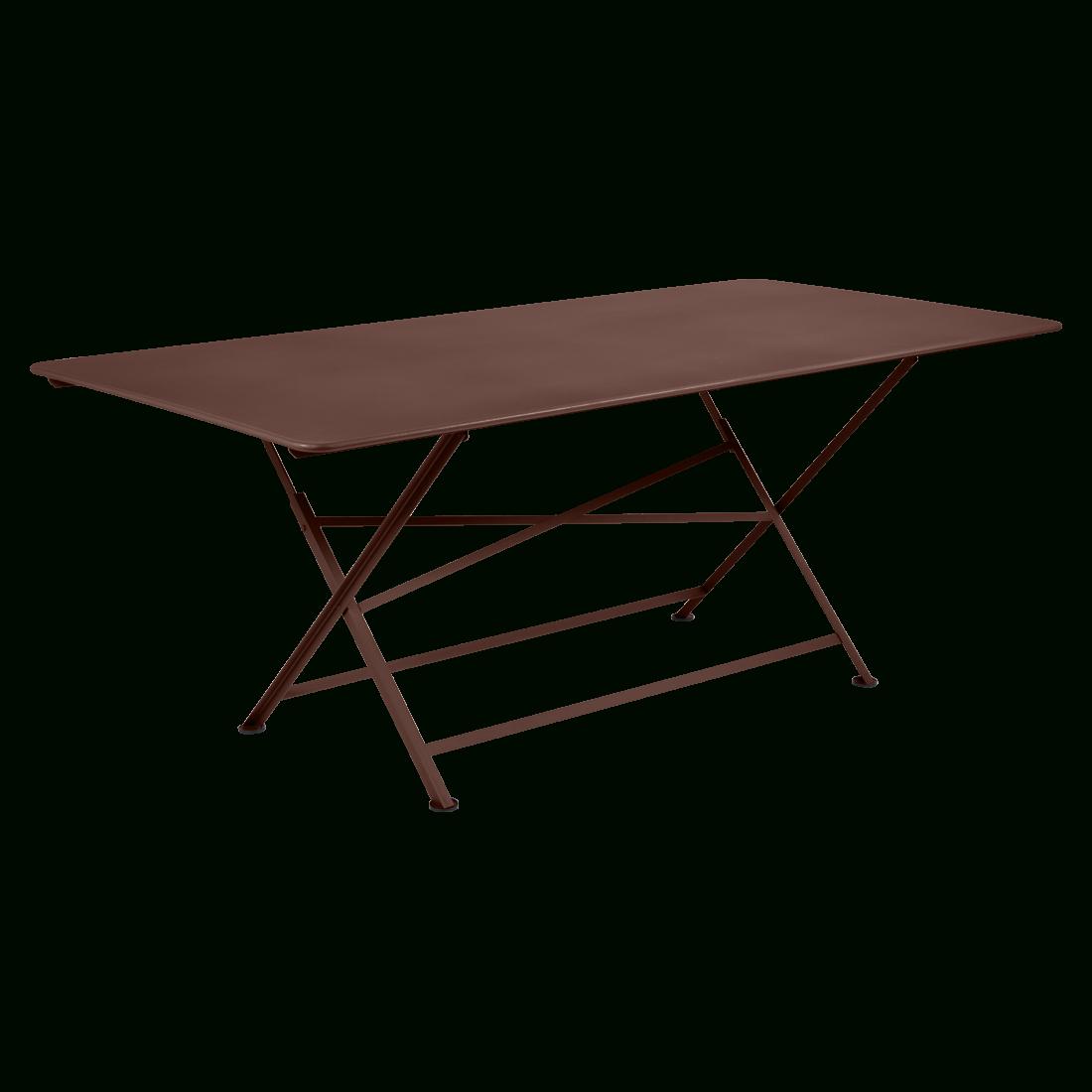 Cargo Rectangular Table, Garden Table For 8, Outdoor ... pour Table De Jardin Metal Pliante