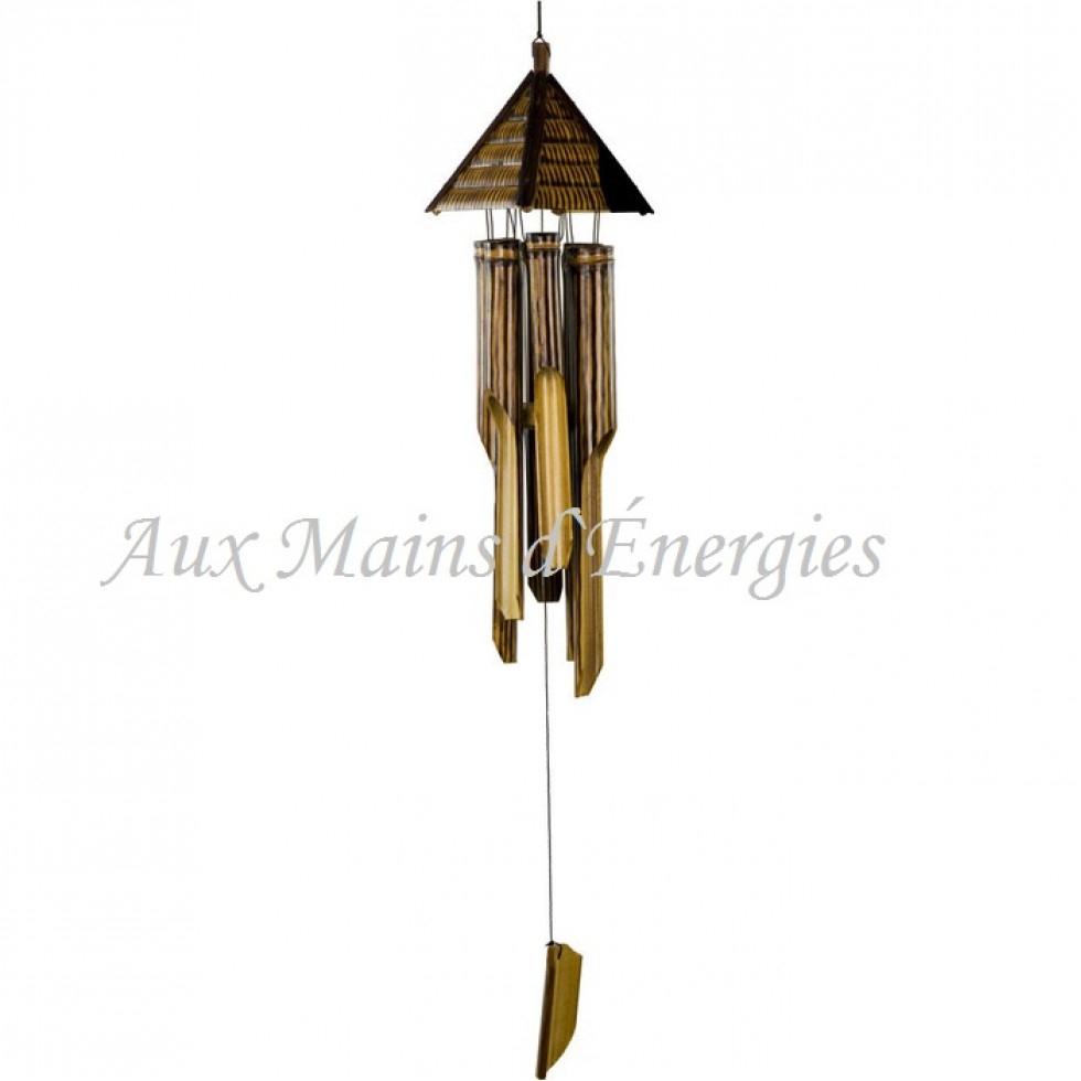 Carillon-Bambou-Pyramide dedans Carillon Bambou Jardin