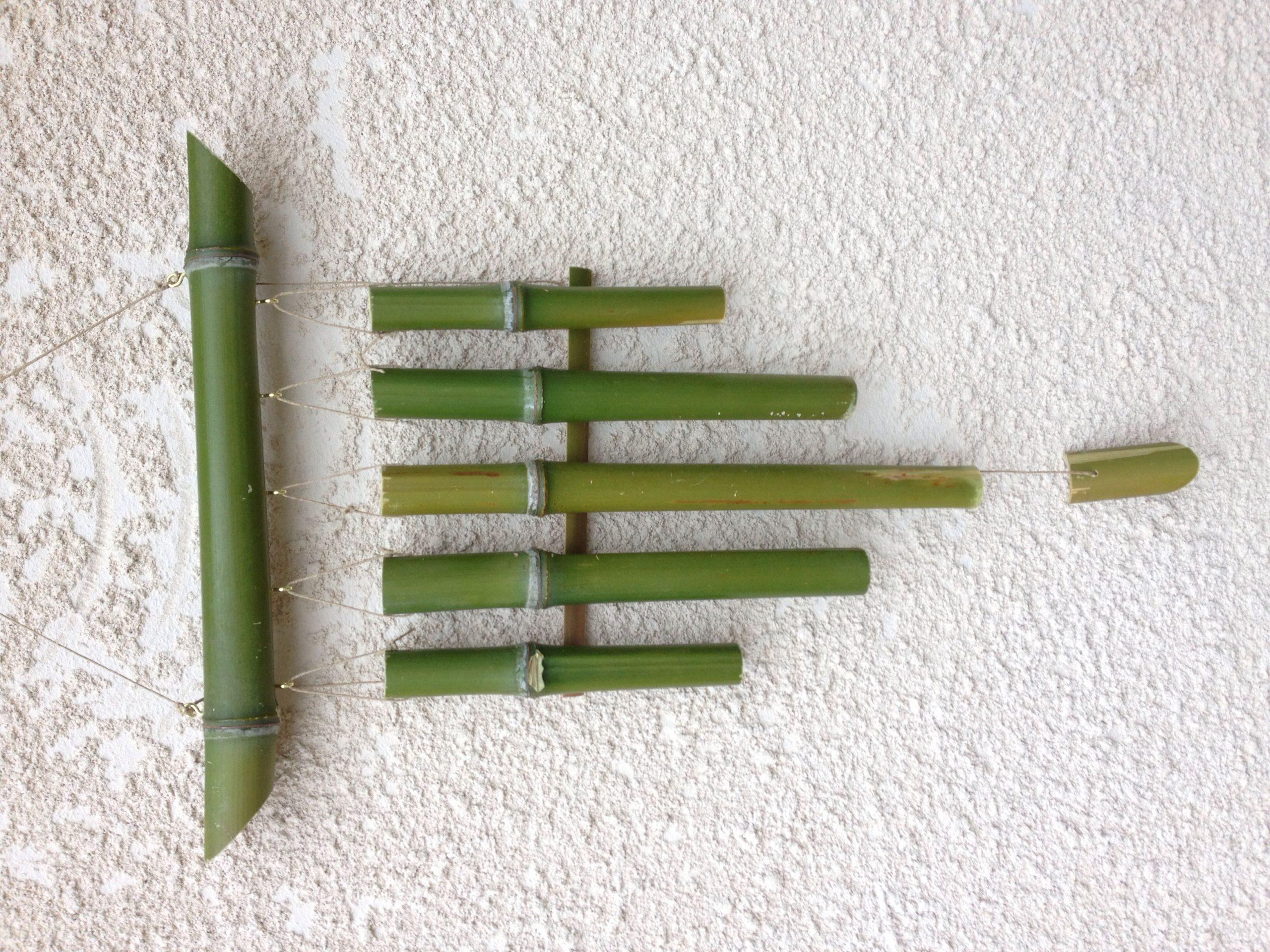 Carillon En Bambou! Fabrication 100% Maison | Carillon À ... dedans Carillon Bambou Jardin