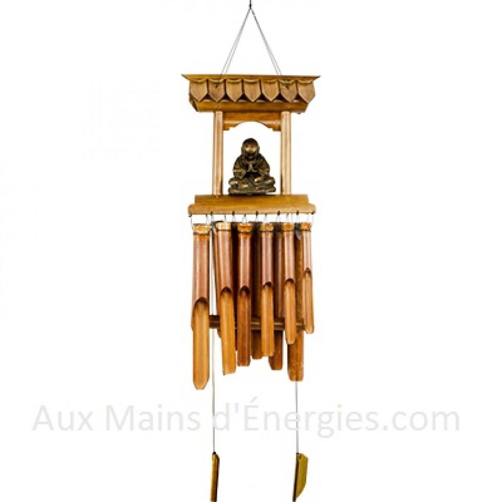 Carillons Carillon À Suspendre Avec Deux Jolis Oiseaux ... pour Carillon Bambou Jardin