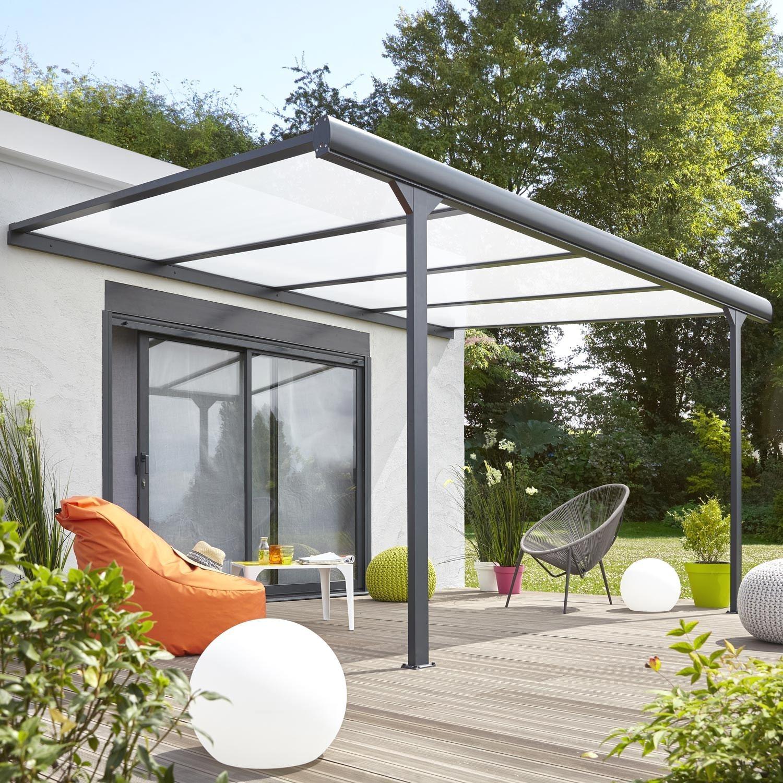 Carport Alu Castorama Pergola Aluminium Avec Brillant ... concernant Pergola Castorama Jardin