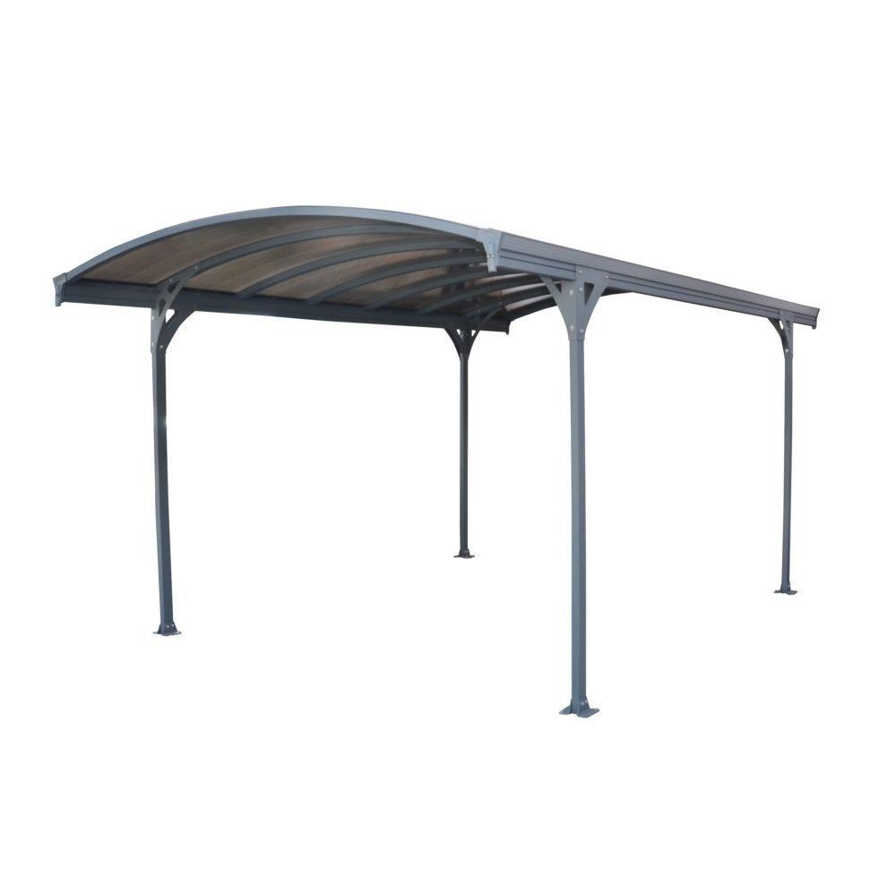 Carport Aluminium Toit Polycarbonate Delage 5000 : 1 Voiture - 14.50 M² concernant Incinérateur De Jardin Brico Depot