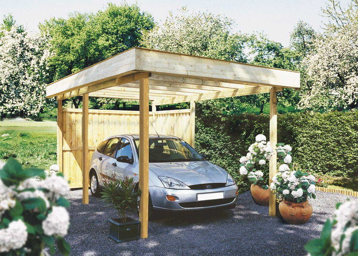 Carport Bois 1 Voiture, En Kit, Prix France, Pas Cher avec Tonnelle De Jardin Jardiland
