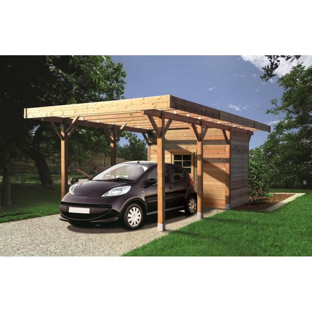 Carport En Bois Solid Superia 3X7M Avec Abri De Jardin dedans Abri De Jardin Avec Pergola